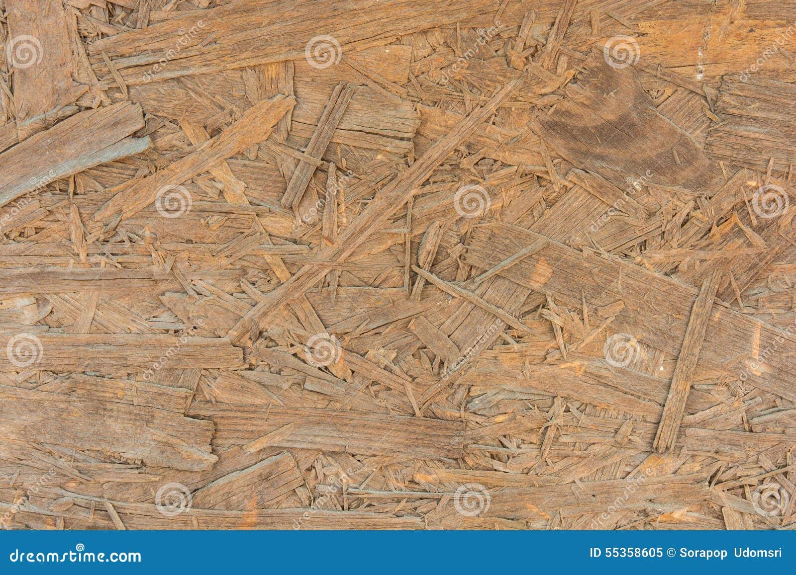 Struttura di legno appiattita