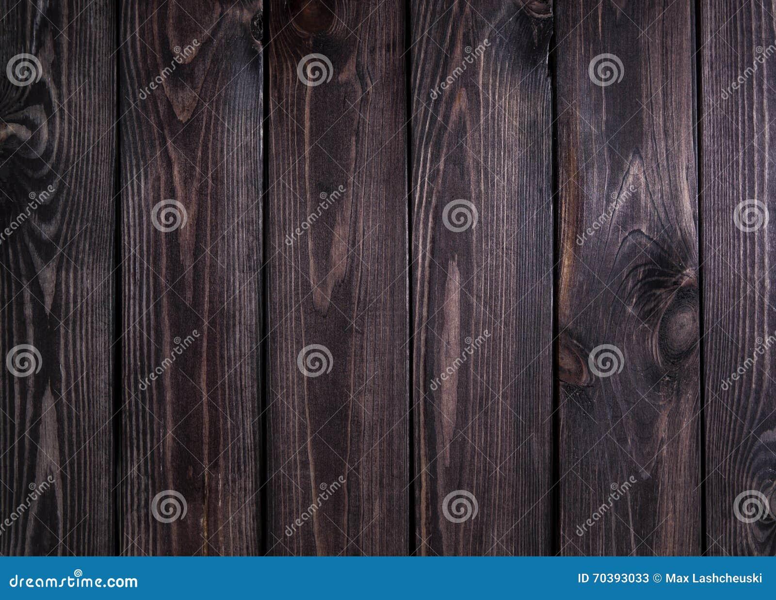 Struttura di legno scura Pannelli di legno scuri del fondo vecchi Chiuda su della parete