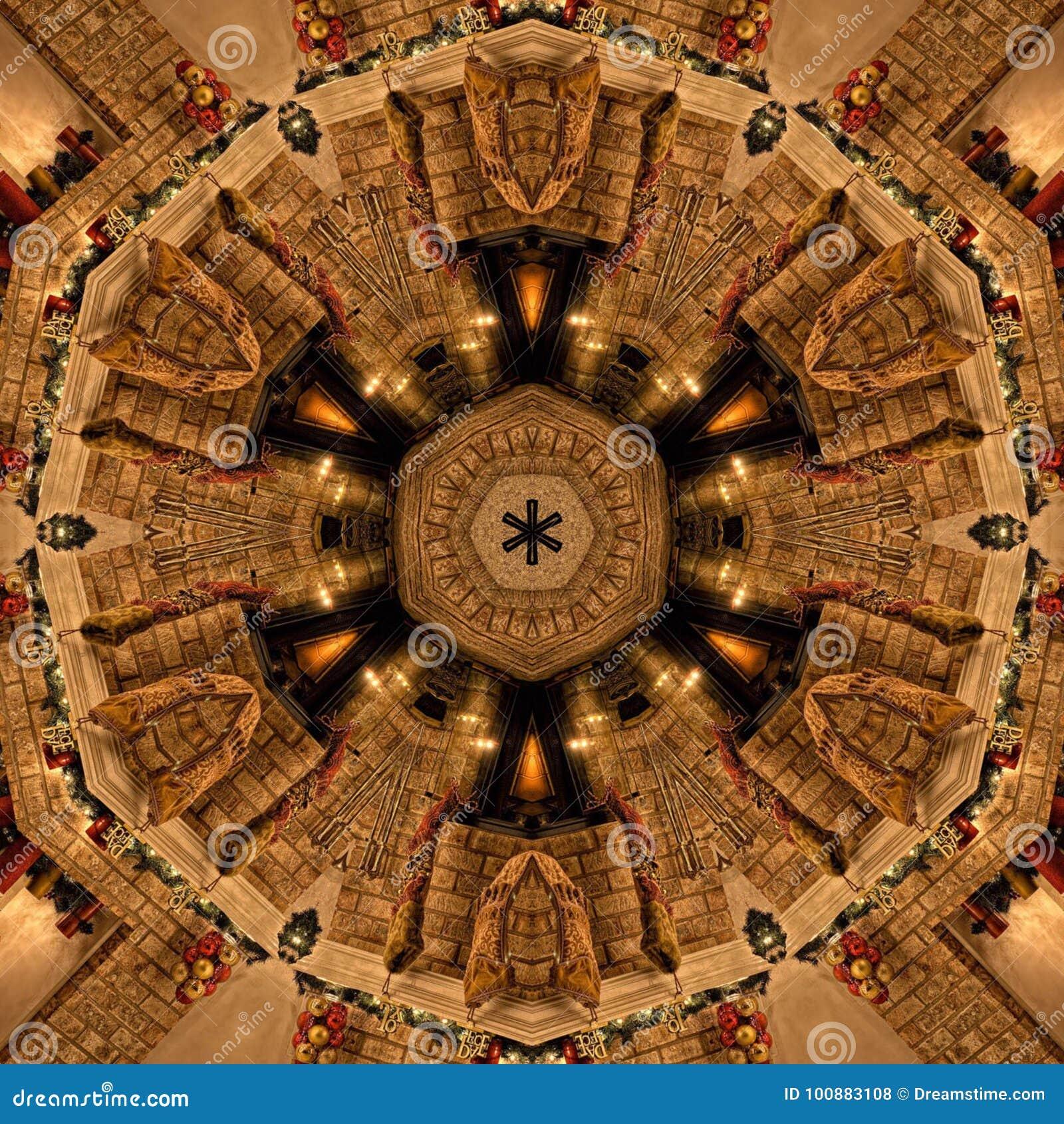 Struttura di Mandala Kaleidoscope dell estratto di Brown