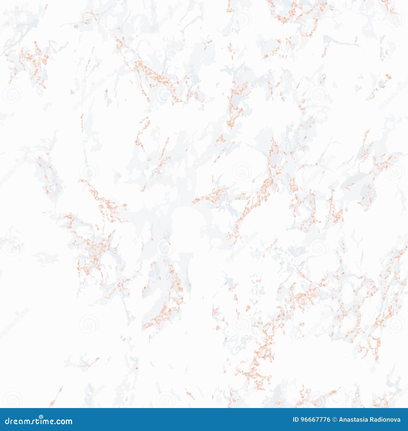 Struttura Di Marmo Bianca Con Oro Rosa Illustrazione Vettoriale