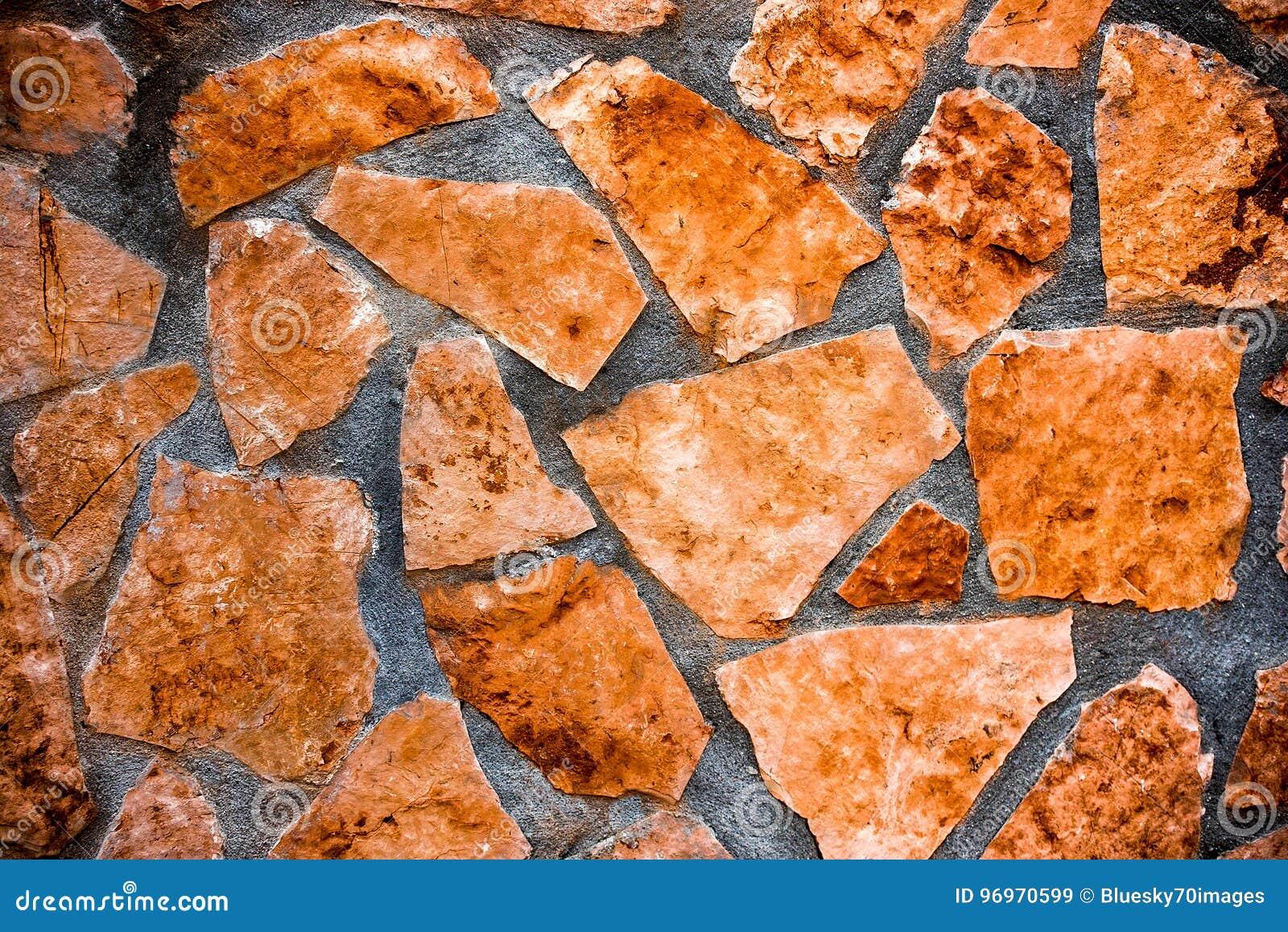 Pareti Colore Arancione : Struttura di pietra naturale della parete del modello di colore