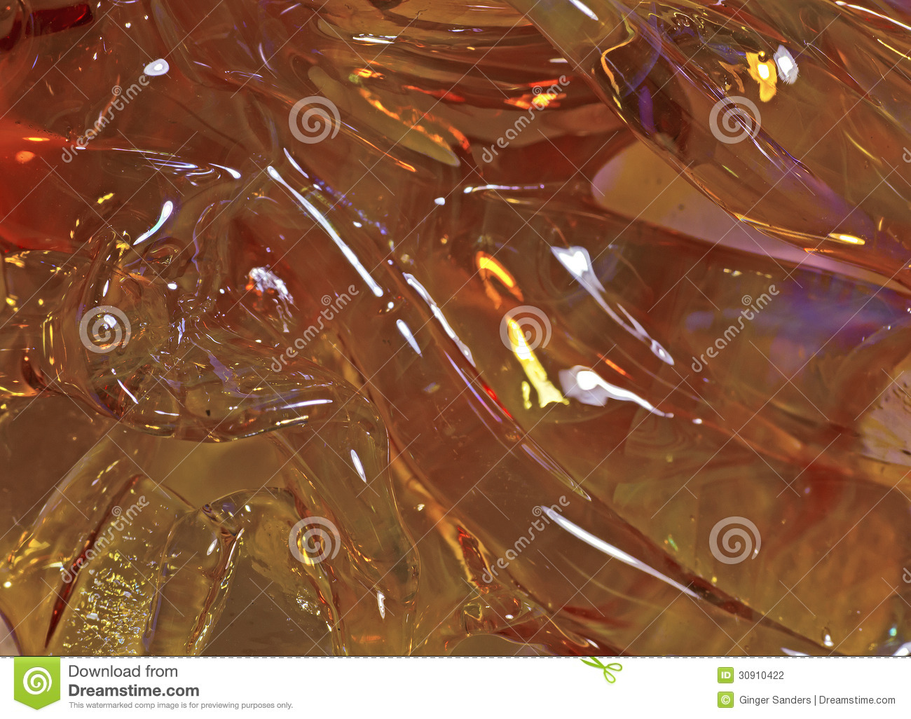 Struttura di Rich Salmon Orange Ripple Glass Background