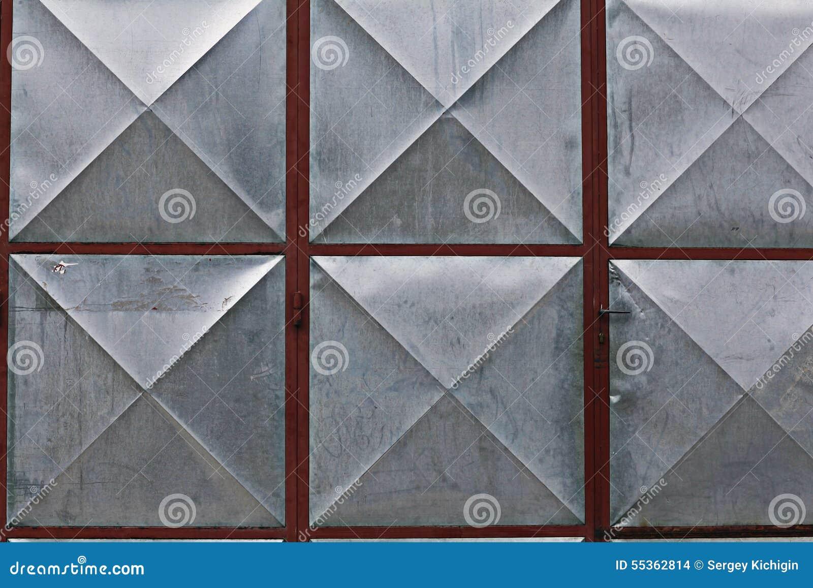 Struttura di superficie geometrica del metallo