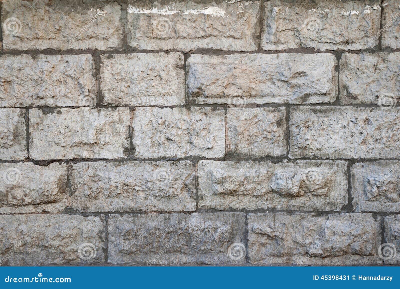 Struttura Di Vecchia Parete Grigia Con Rivestimento Di Pietra Fotografia Stock - Immagine: 45398431