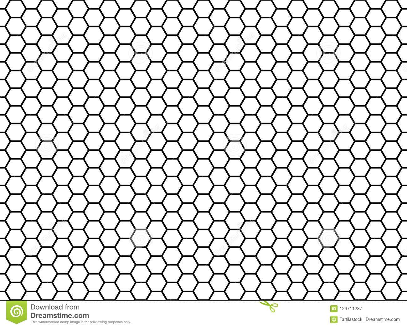 Struttura esagonale delle cellule Cellule di esagono del miele, struttura melliflua di griglia del pettine e vettore senza cucitu
