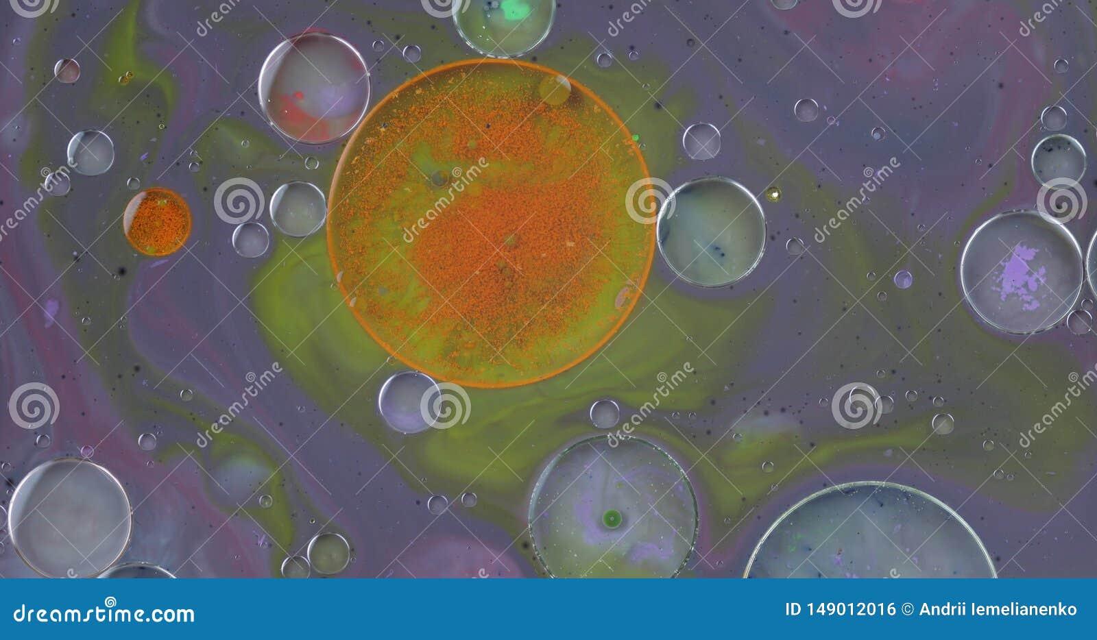 Struttura fantastica delle bolle variopinte Fondo multicolore astratto Macro