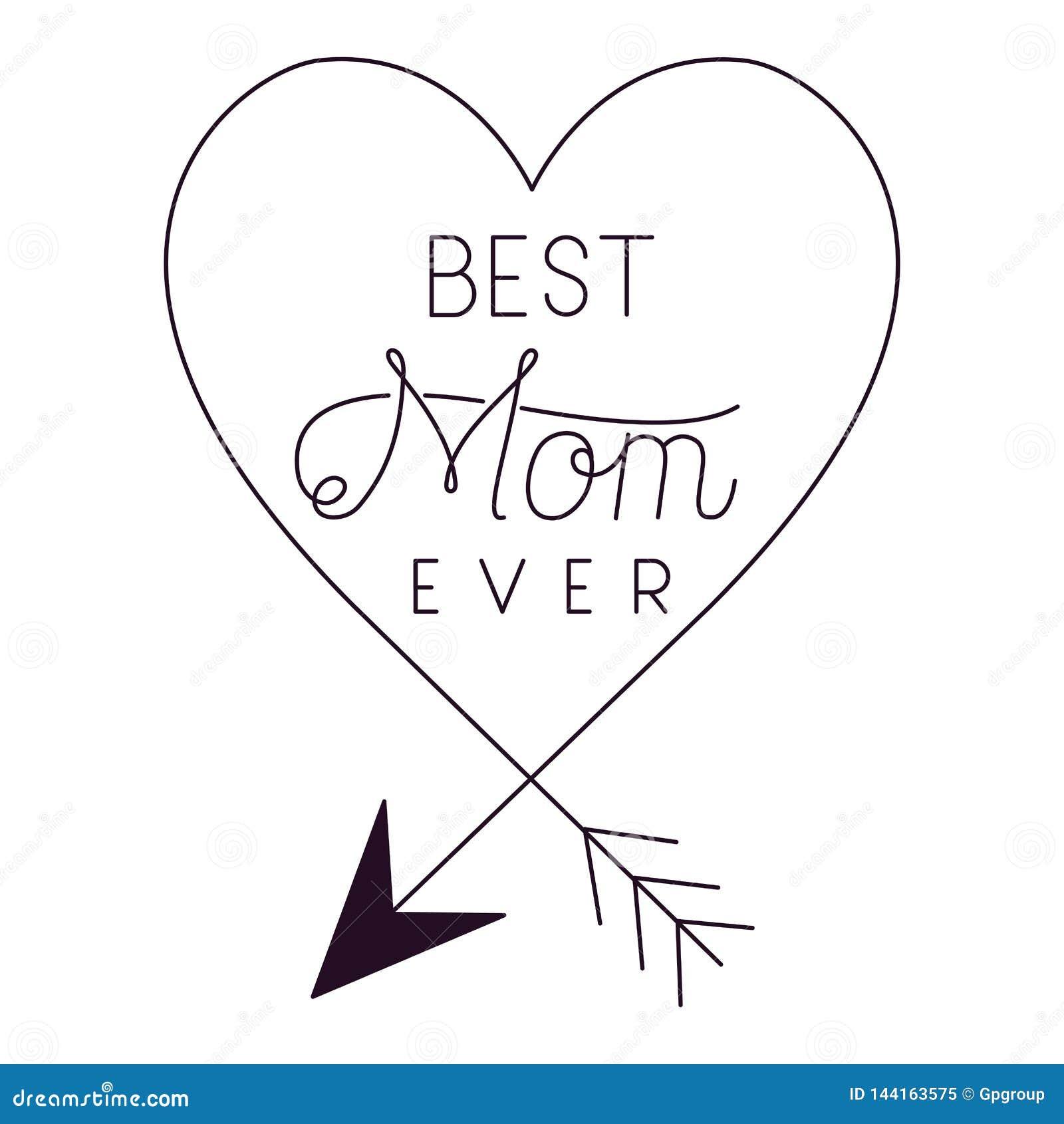 Struttura felice di giorno di madri con le frecce ed i cuori
