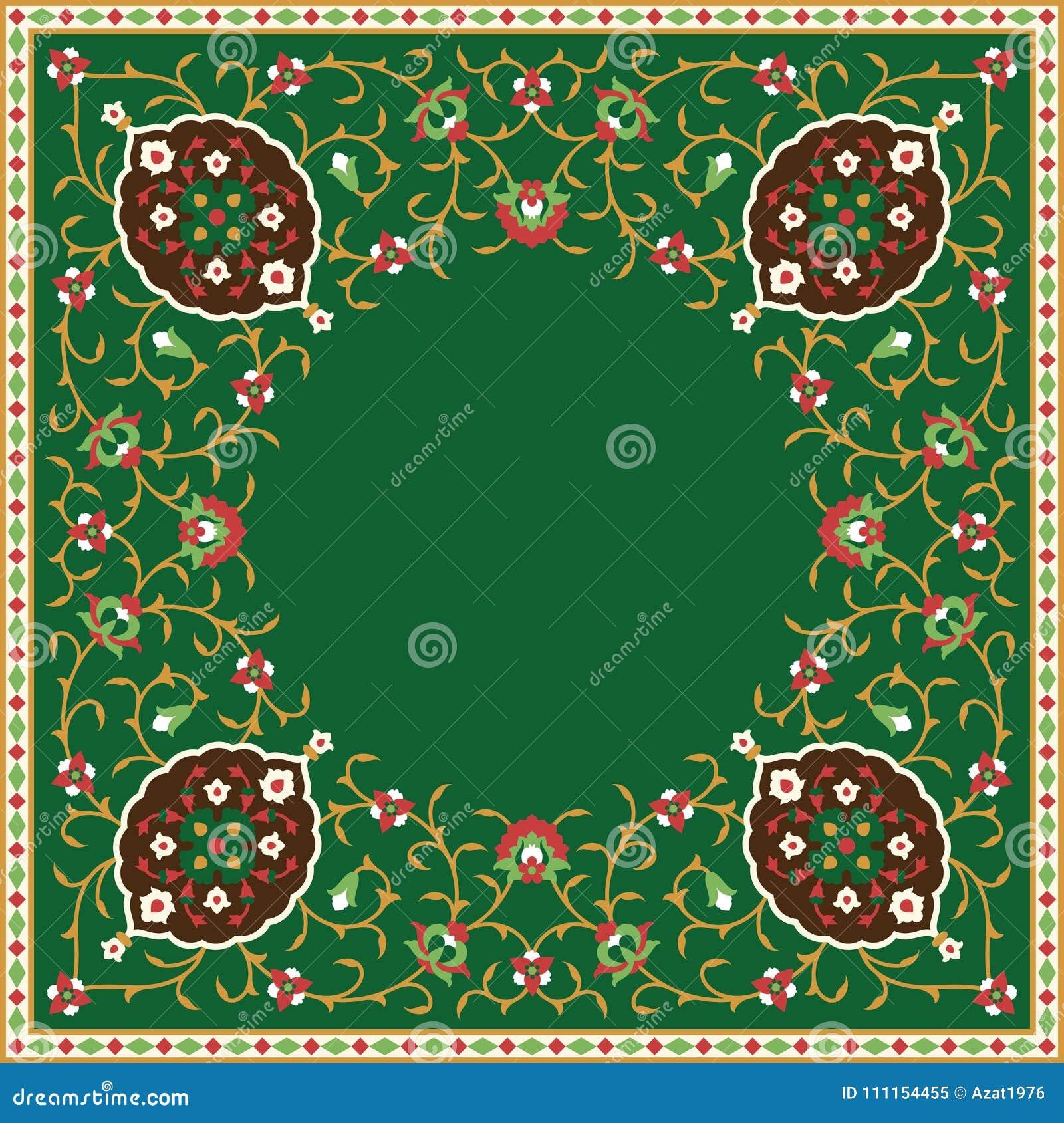 Struttura floreale araba Progettazione islamica tradizionale