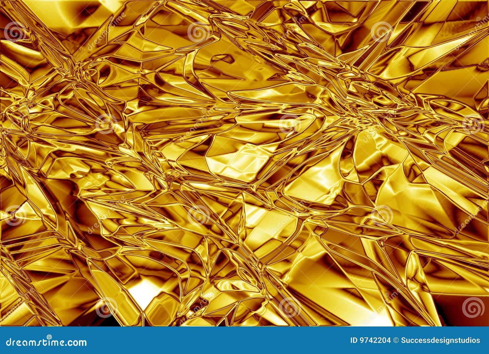 Struttura increspata estratto della stagnola di oro