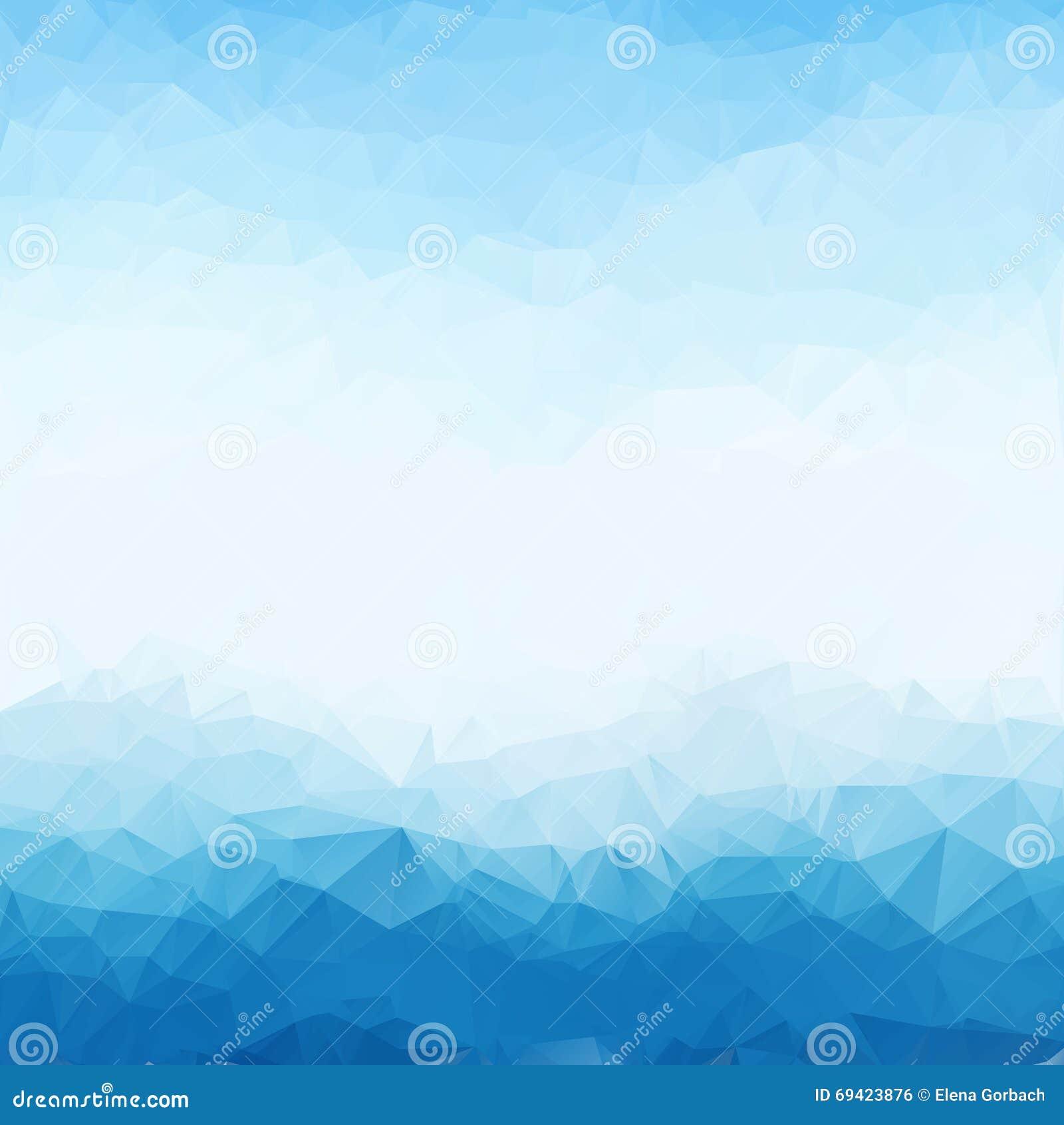 Struttura luminosa blu-chiaro del fondo del poligono del triangolo Contesto geometrico astratto Progettazione geometrica per l af