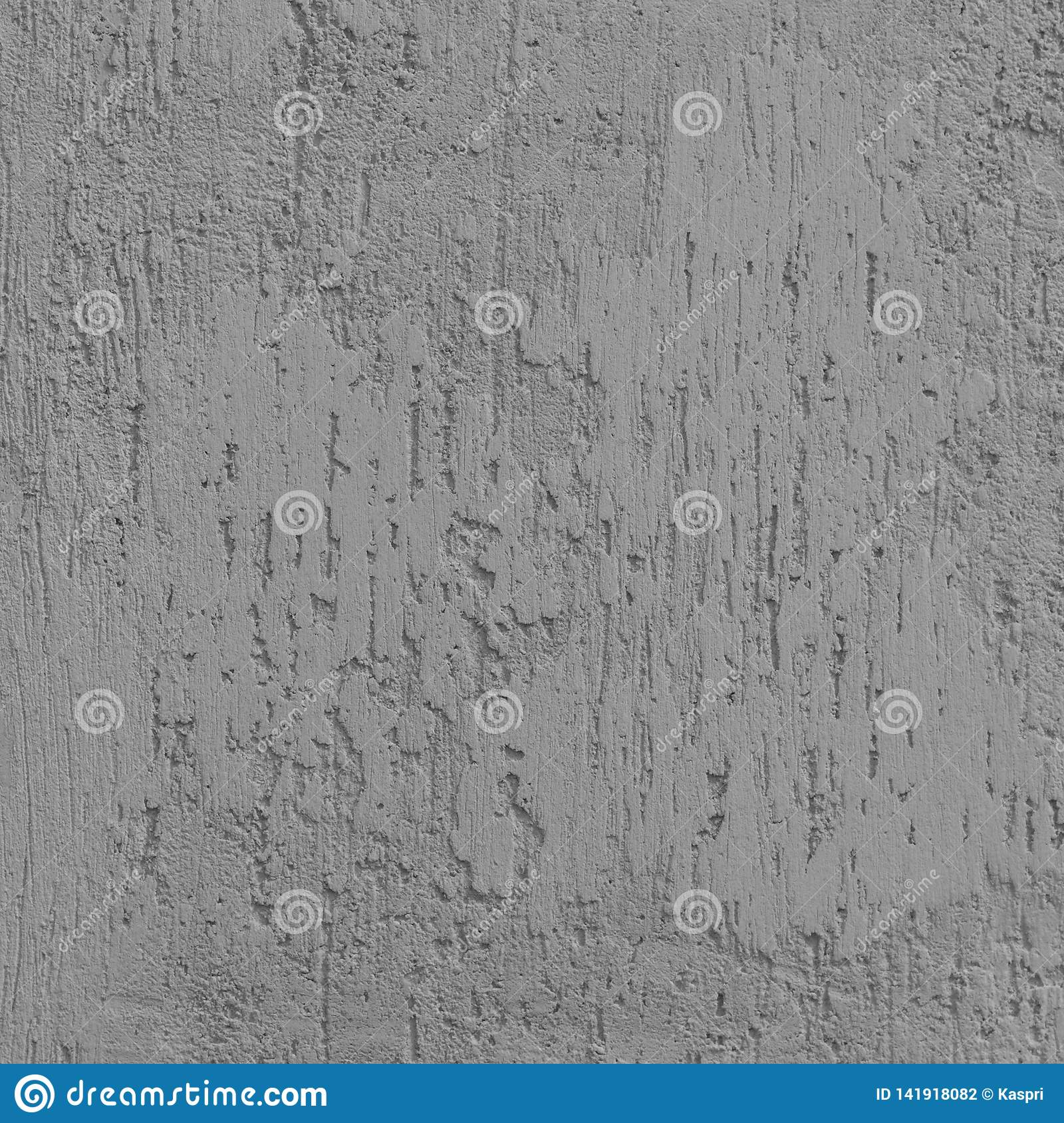 Struttura luminosa di Grey Grunge Plastered Wall Stucco, graffio naturale dettagliato Gray Coarse Rustic Textured Background Grun
