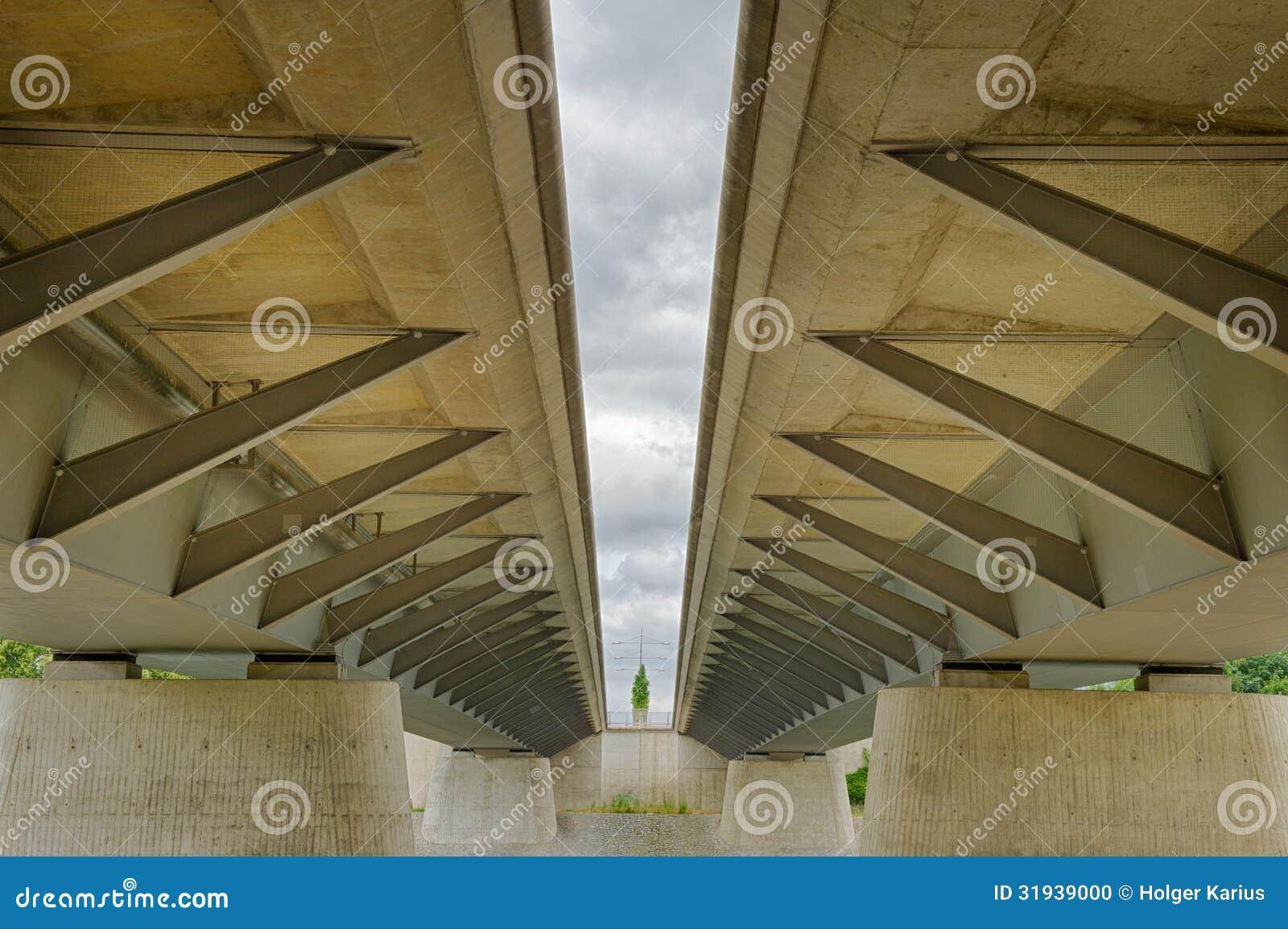 Struttura moderna del ponte del fascio