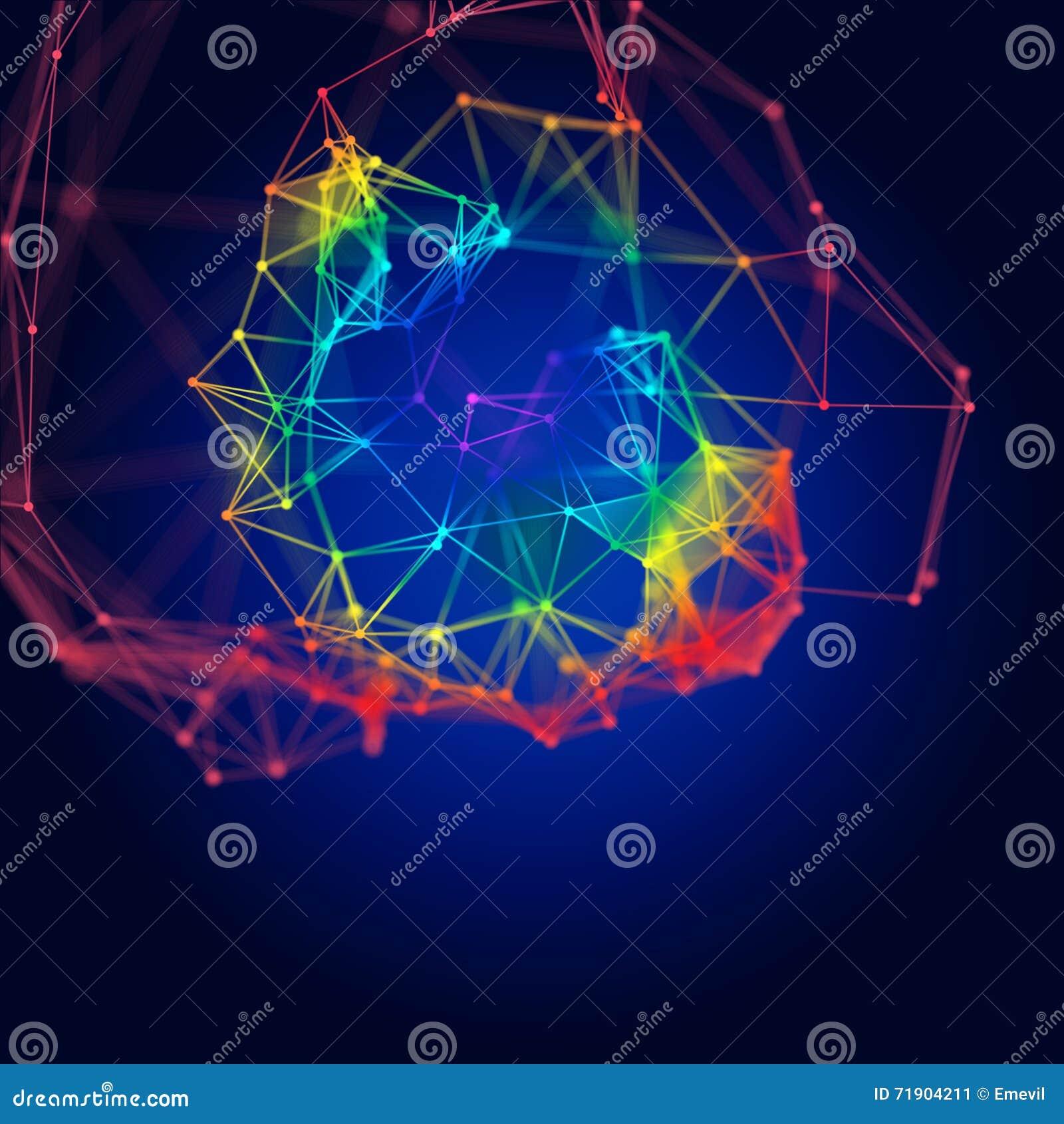 Struttura molecolare astratta su fondo scuro