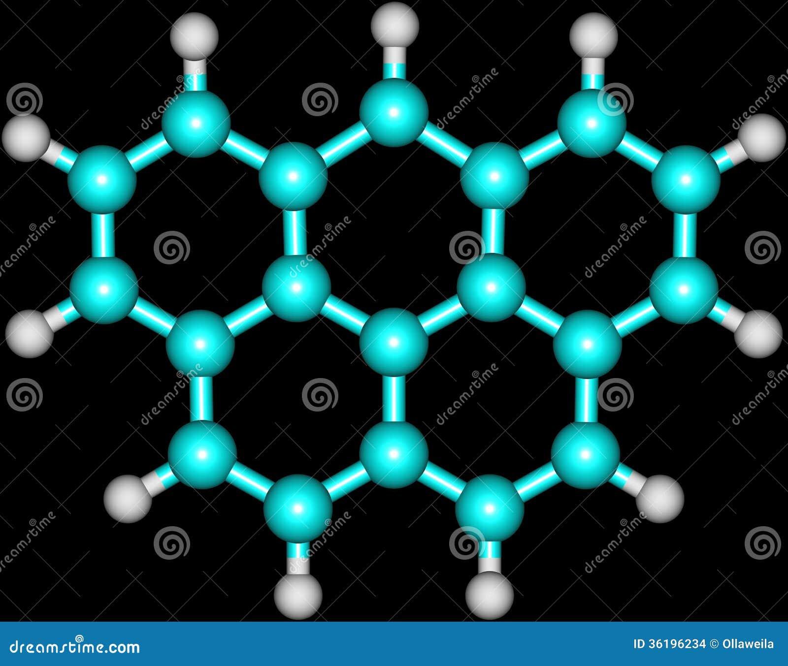 Struttura molecolare di Olympicene sul nero
