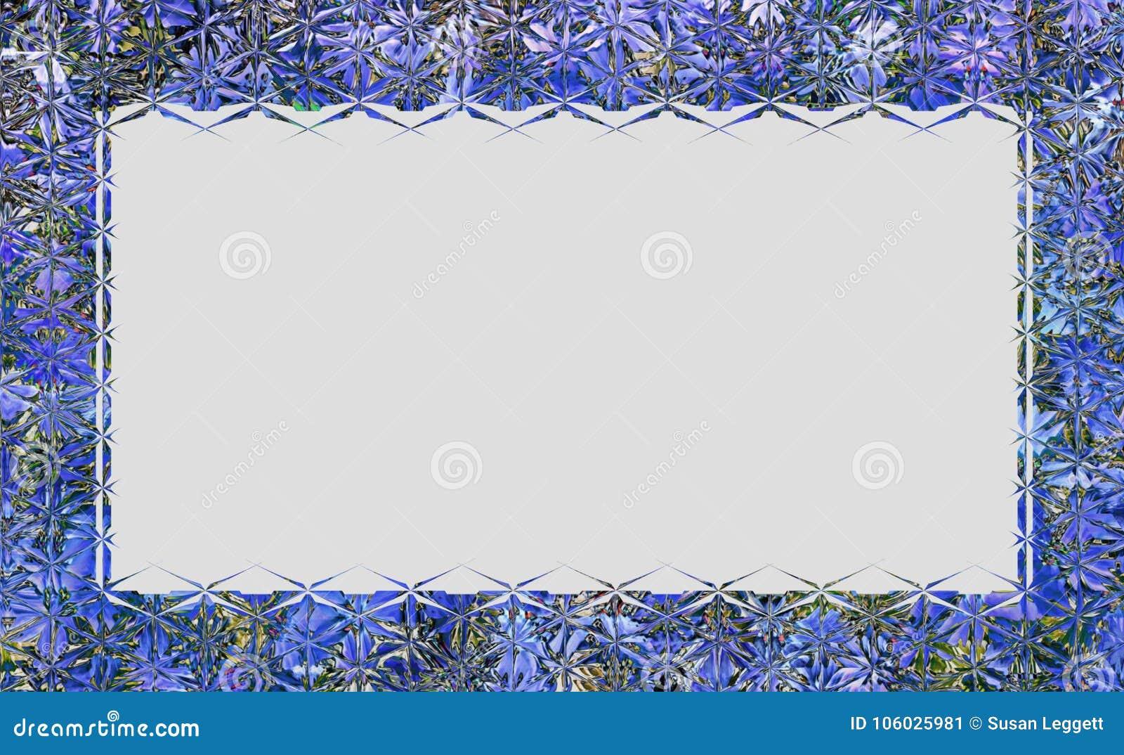 Struttura o confine di vetro di stile