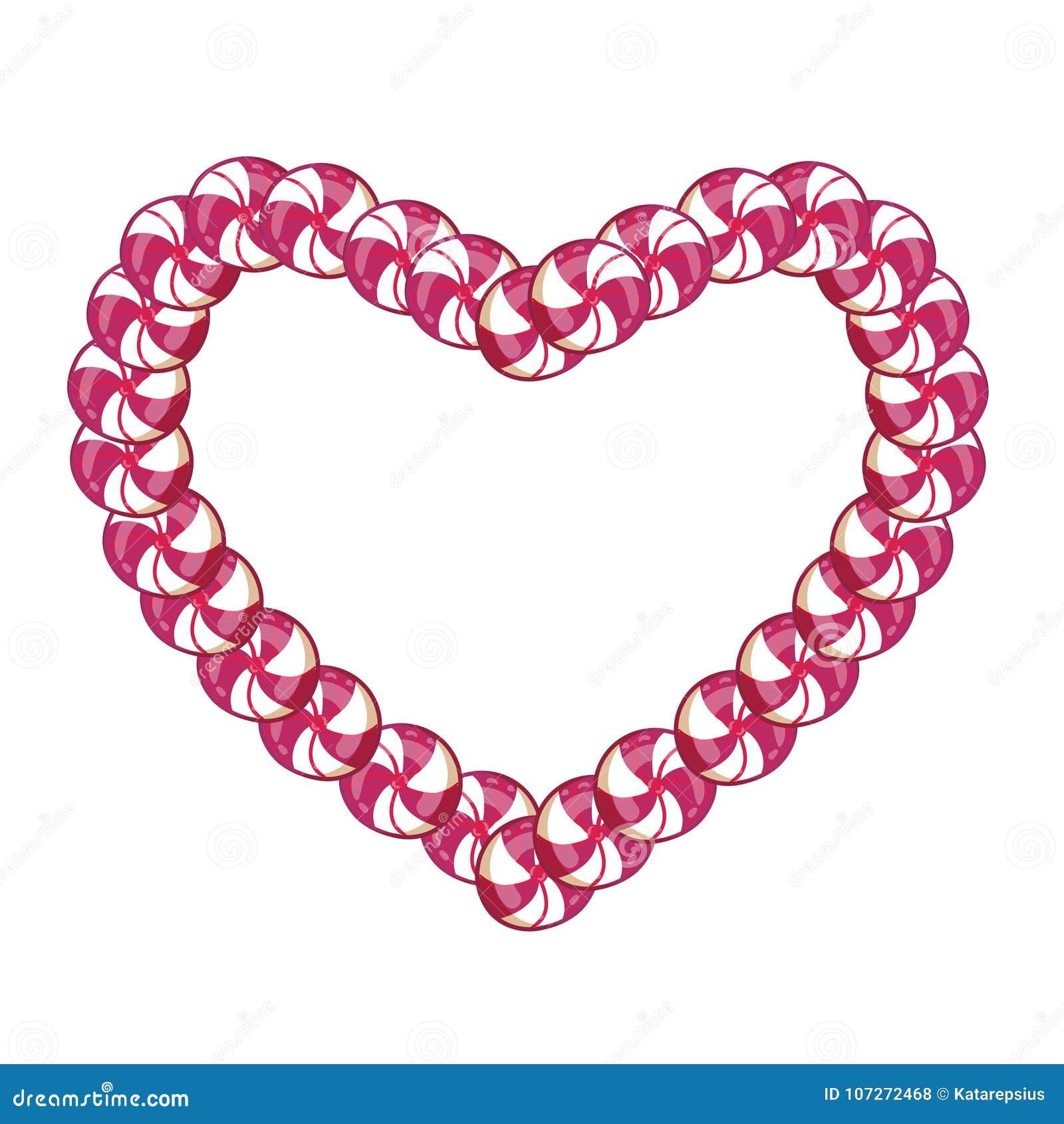 Struttura rosa e bianca della caramella del cuore con spazio per testo