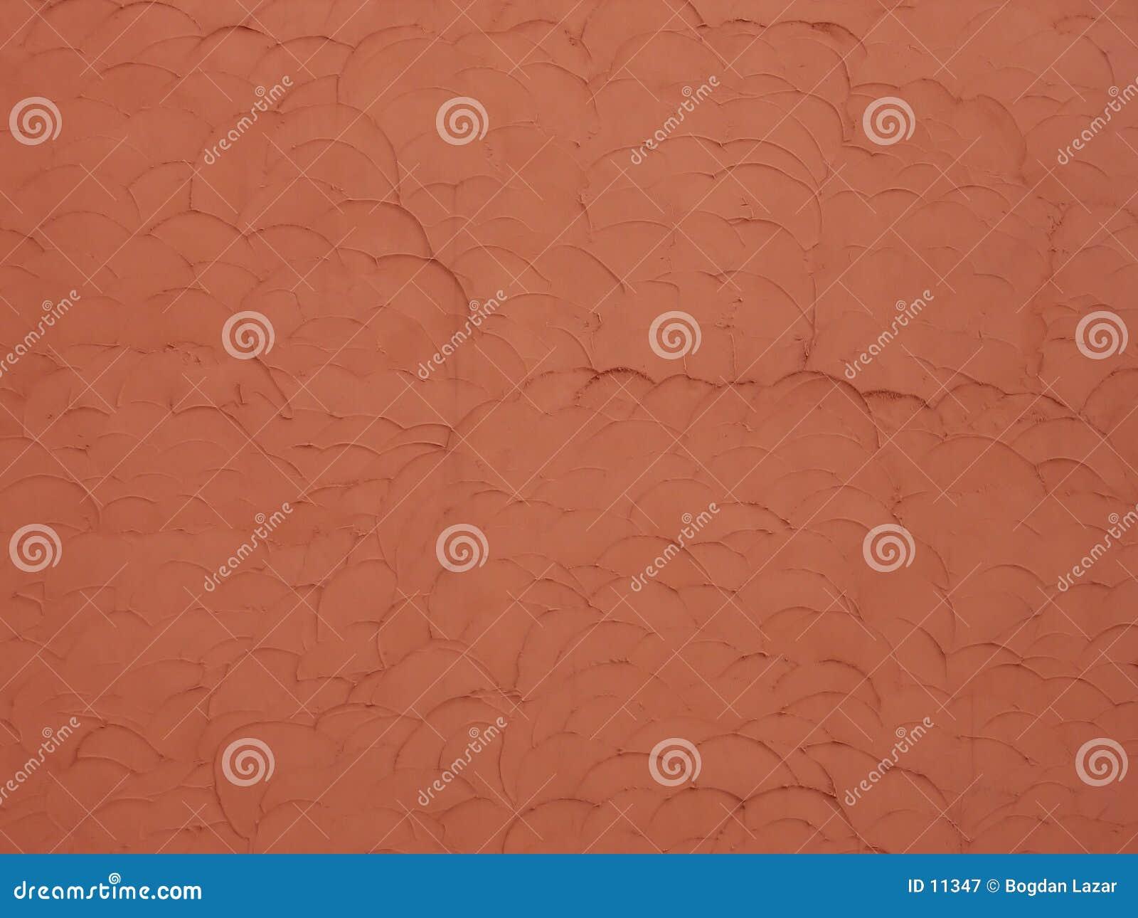 Struttura rossa della parete con le scale
