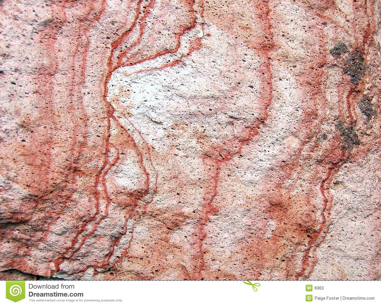 Struttura rossa della roccia