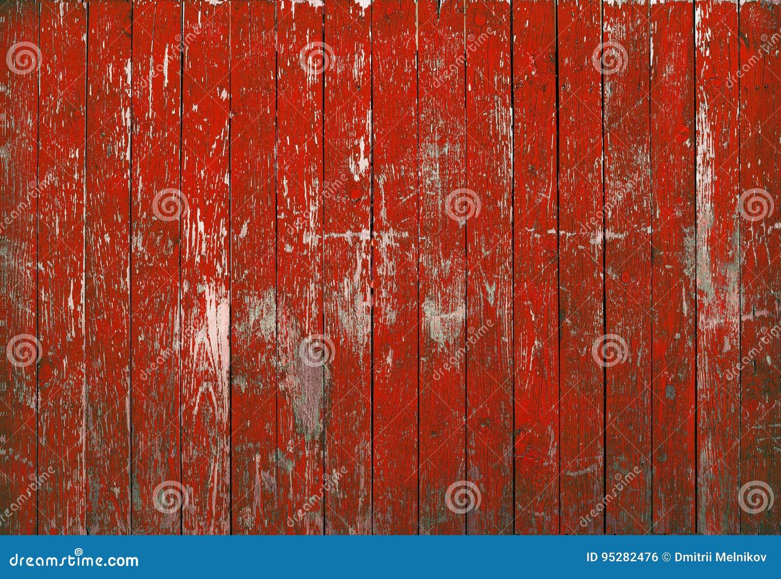 Struttura rossa di legno del fondo