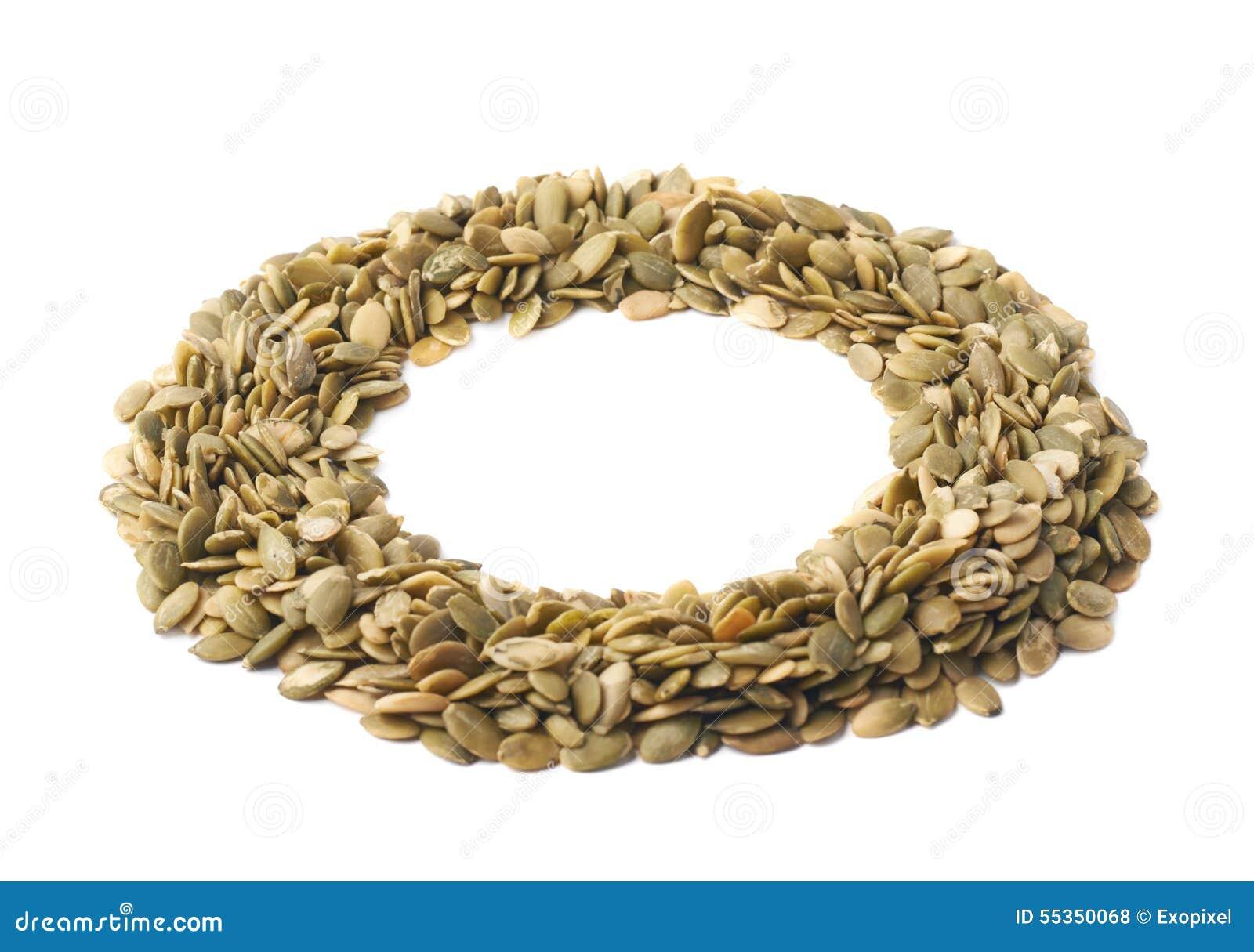 Struttura rotonda dei semi di zucca