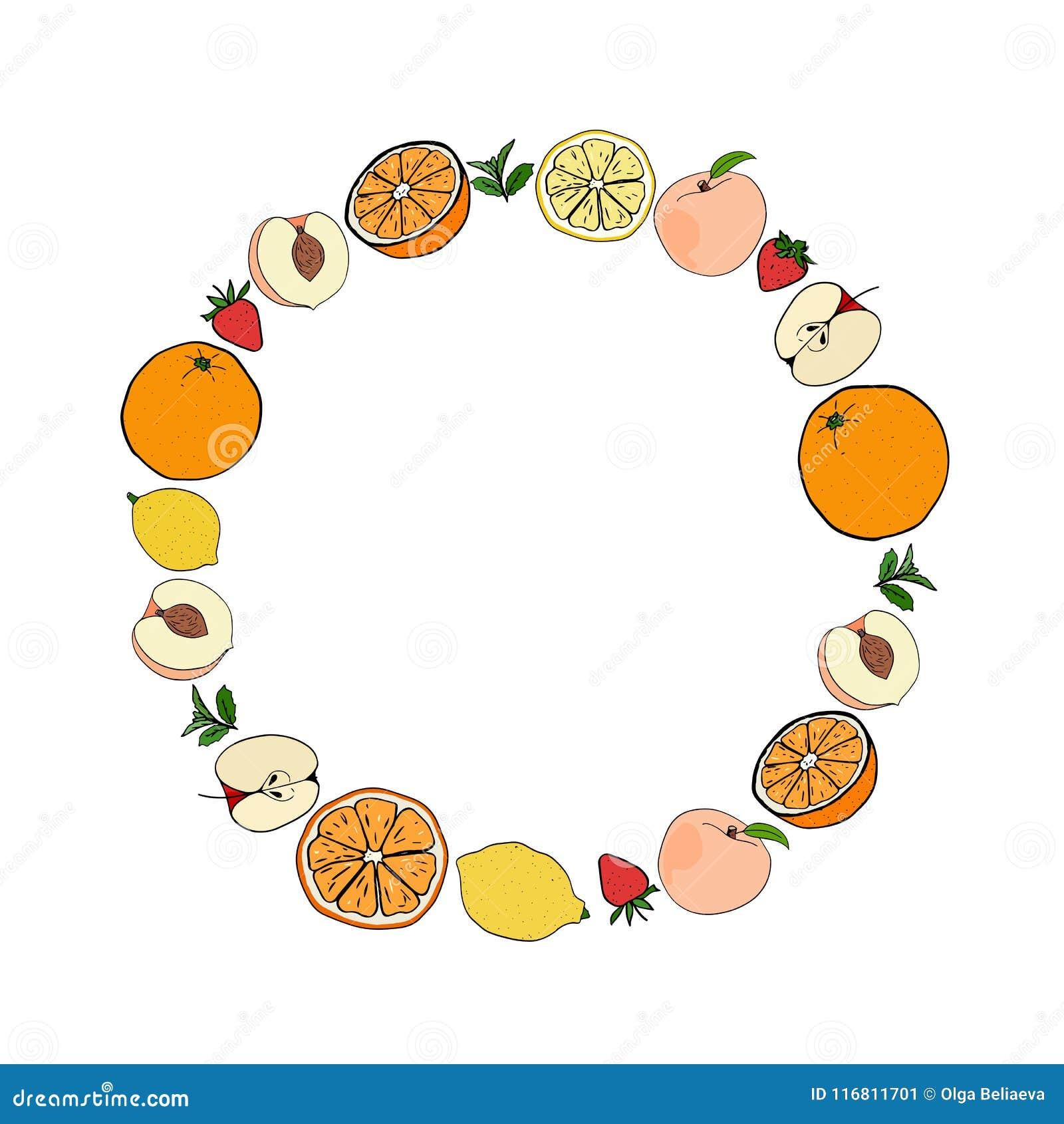 Struttura rotonda di frutta fresca