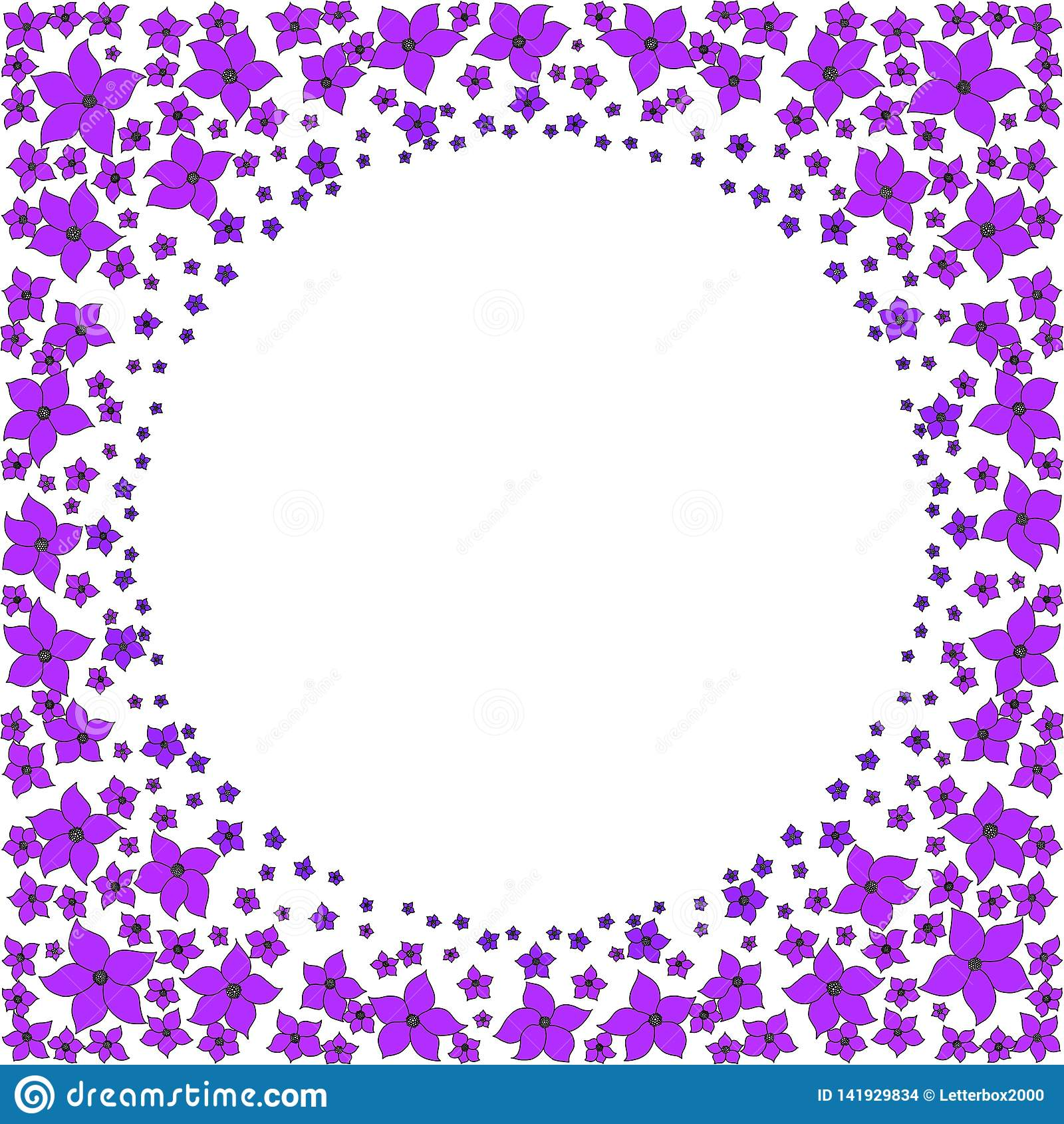 Struttura rotonda di piccoli fiori porpora