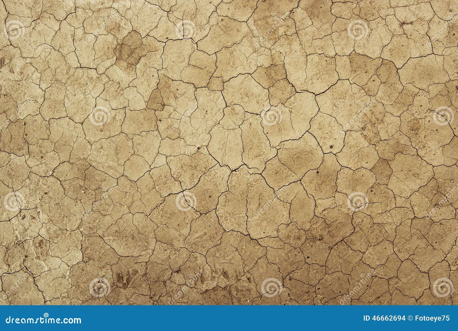 Struttura secca del fondo del fango della sporcizia - riscaldamento globale del deserto
