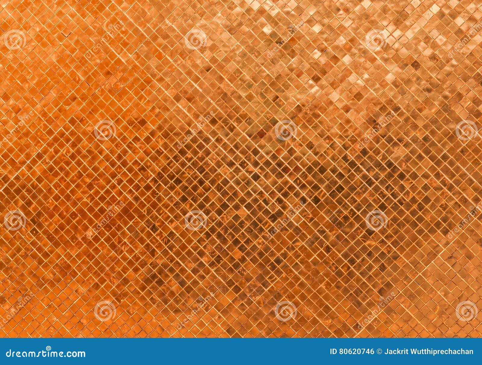 Struttura senza cuciture di vetro brillante di lusso astratta del fondo del mosaico del modello di Rusty Orange Wall Flooring Til