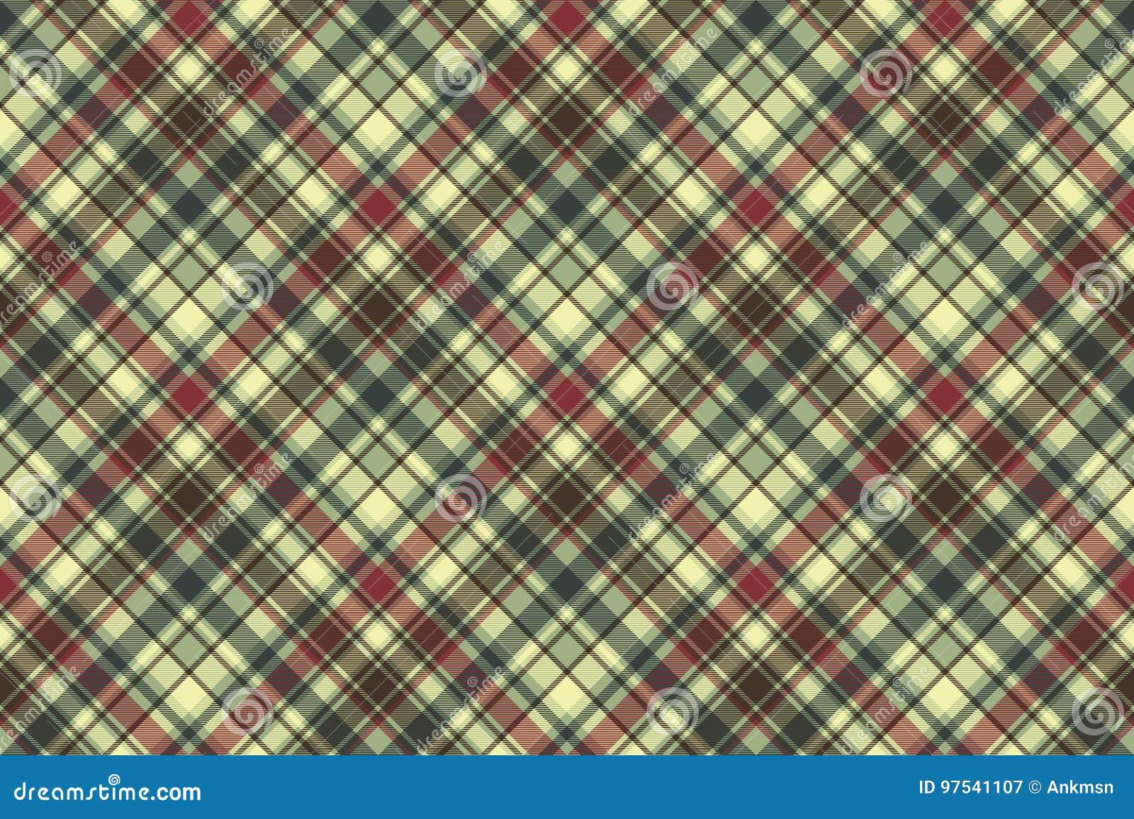 Struttura senza cuciture diagonale del tessuto del plaid verde