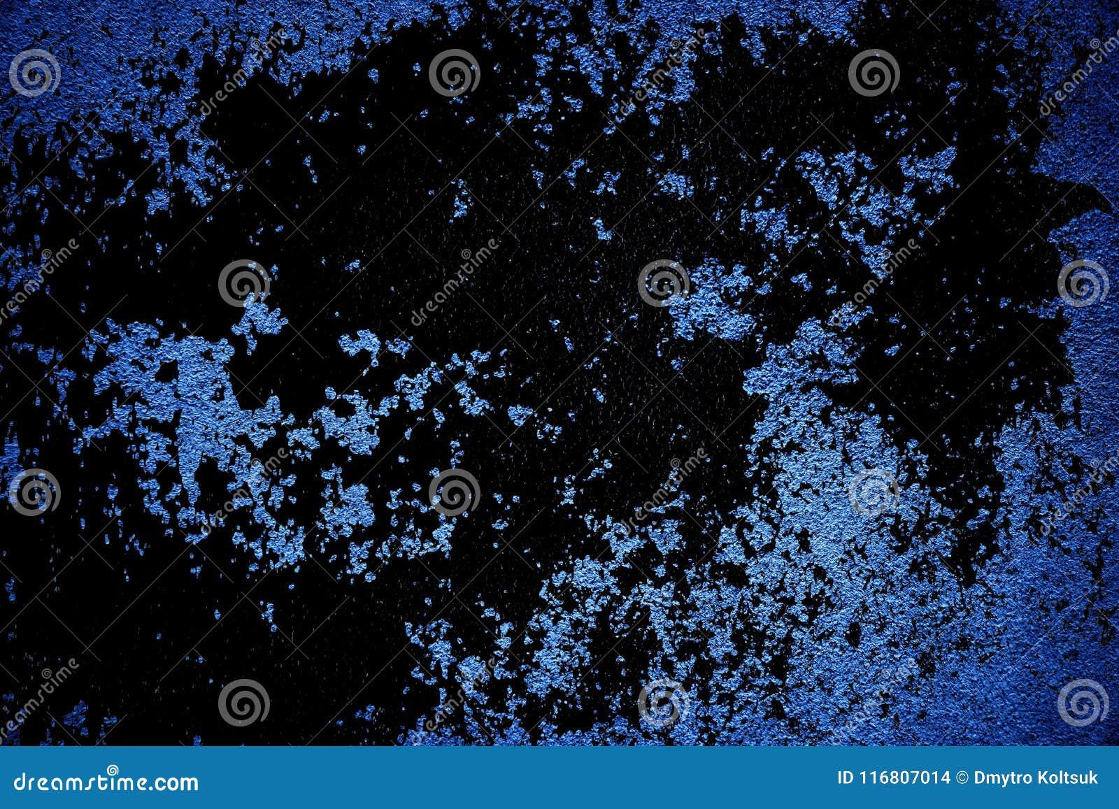Struttura ultra blu approssimativa del calcestruzzo di lerciume, superficie della pietra, fondo del cemento