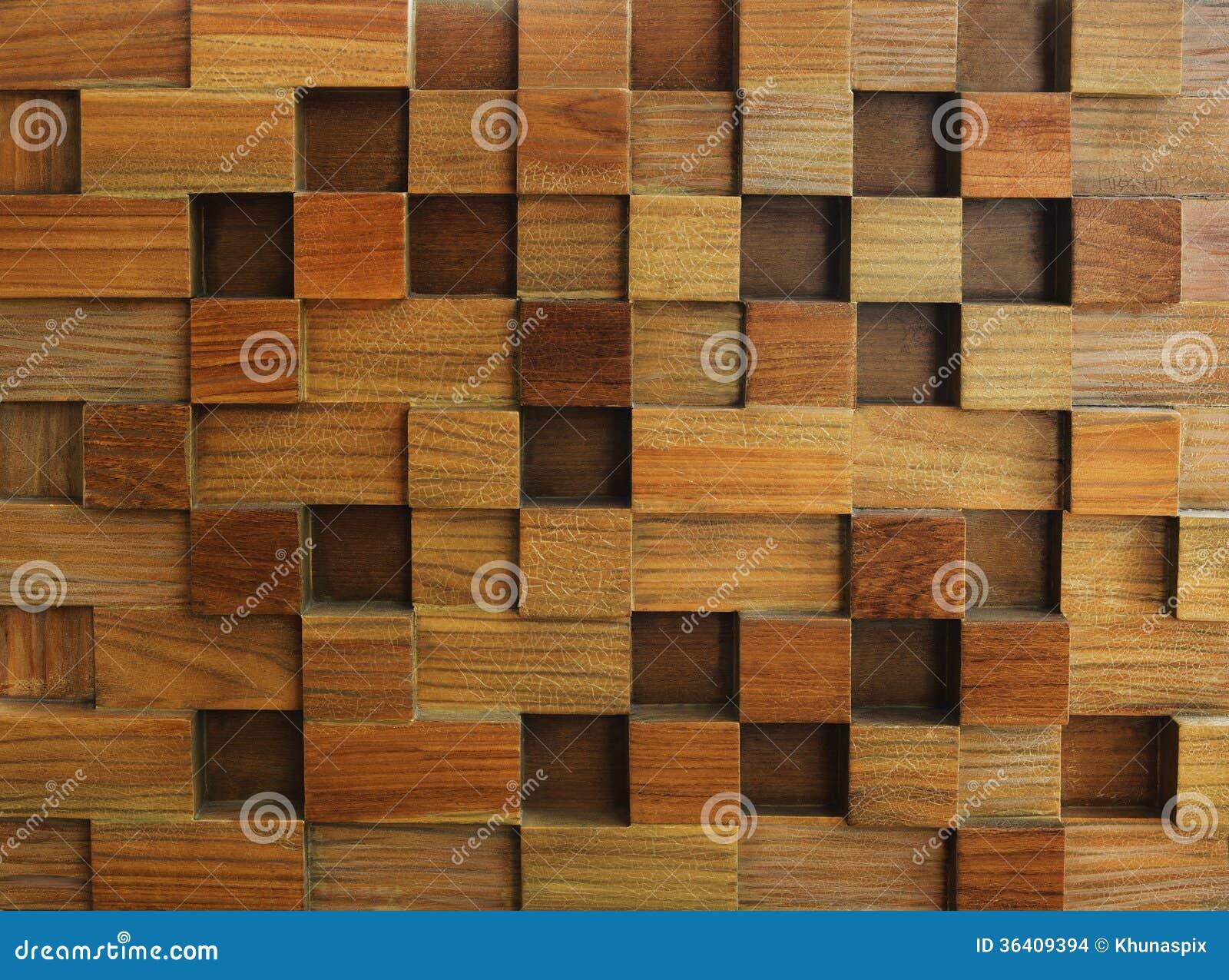 Strutturato di uso del legno del fondo del cubo per forma multiuso e