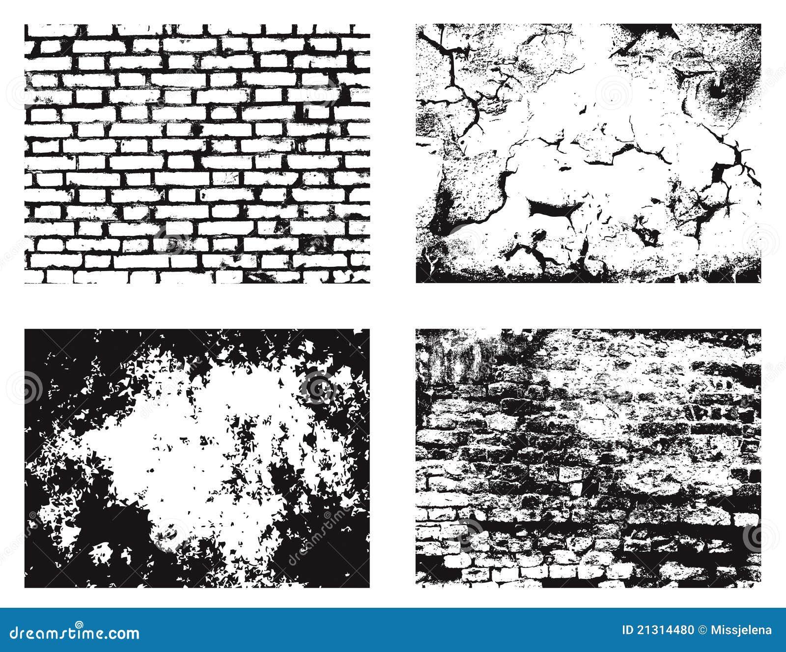 Strutture della parete di Grunge fissate