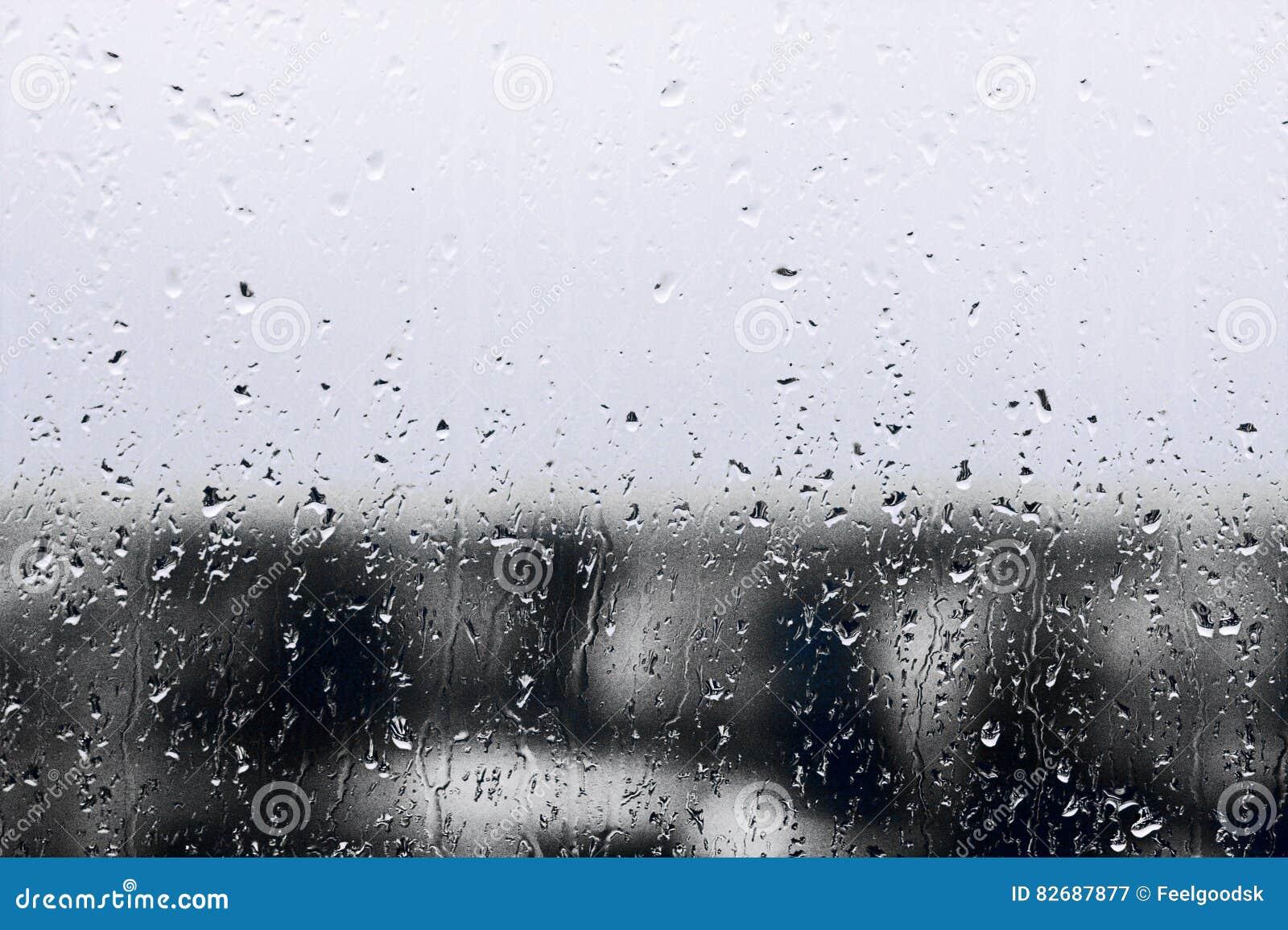 Strutturi Le Gocce Di Pioggia Sul Vetro Di Finestra Per