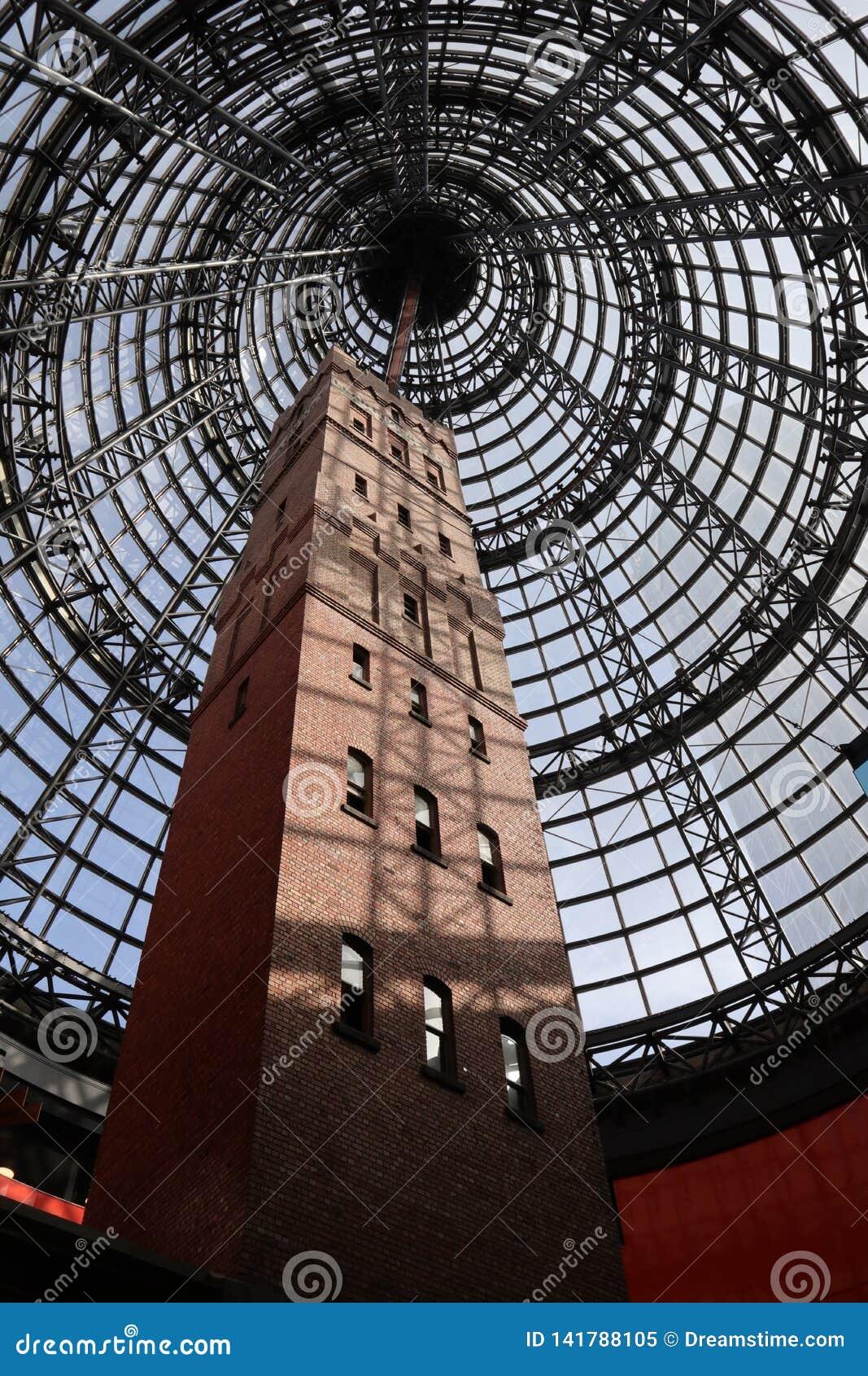 Strzału wierza przy Melbourne centralą