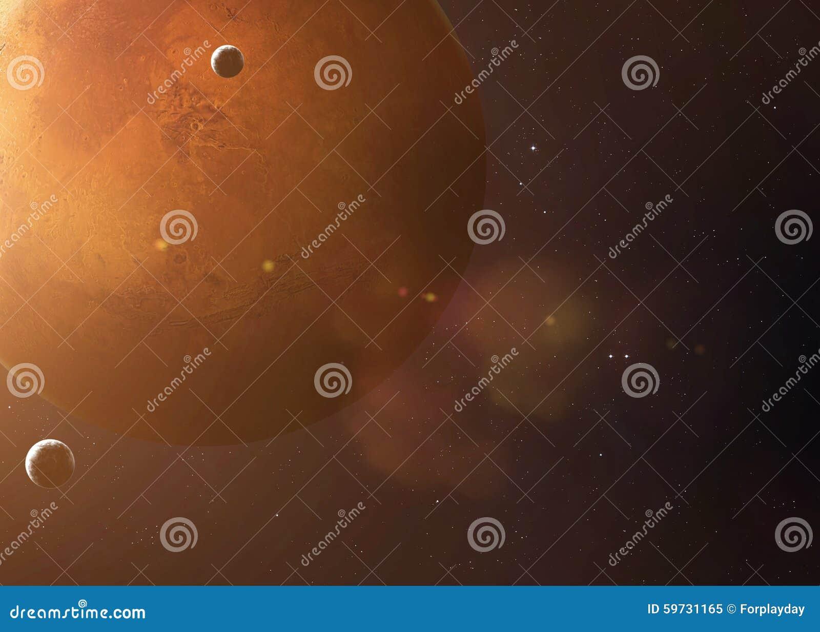 Strzał brać od otwartej przestrzeni Mars Kolaży wizerunki