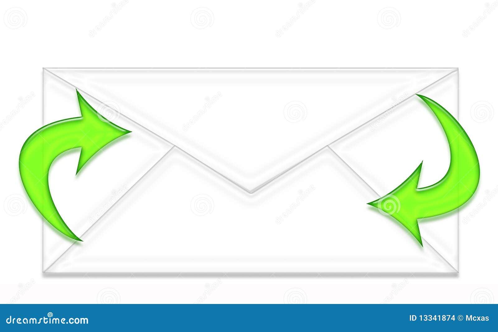 Strzała koperty zieleń dwa