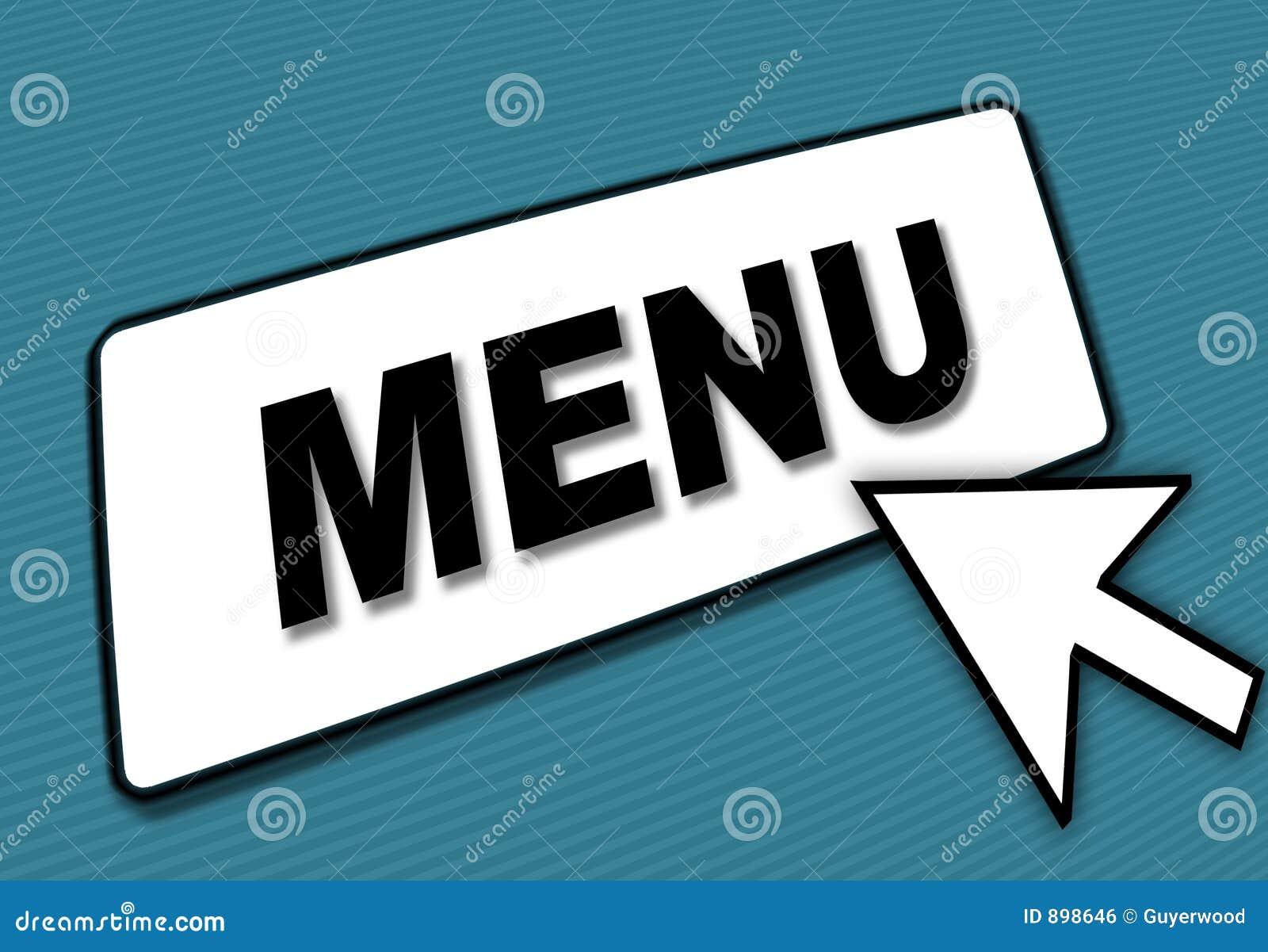 Strzała pole menu