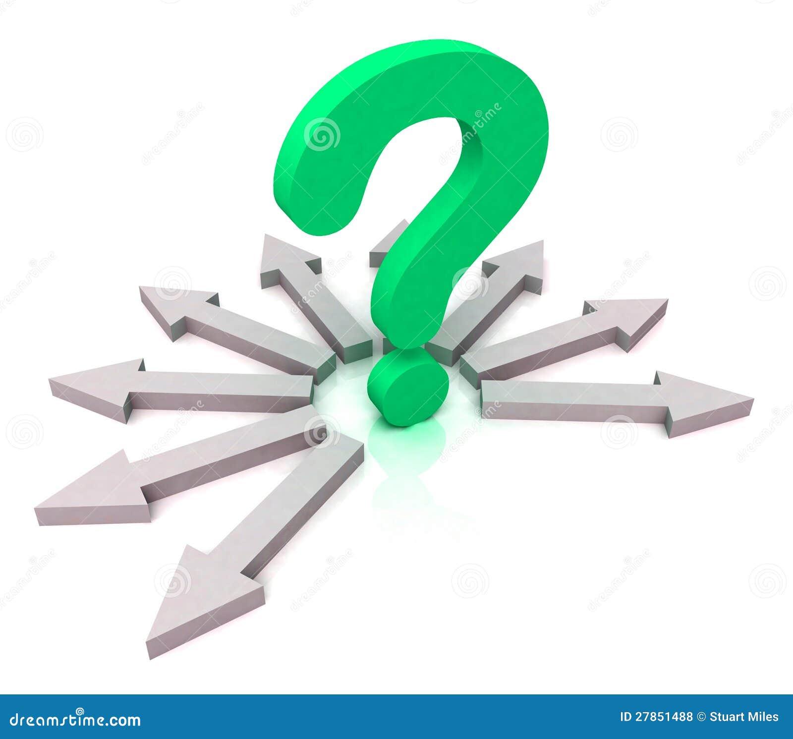 Strzała TARGET228_1_ Zielonego Pytanie Pokazywać Wybór