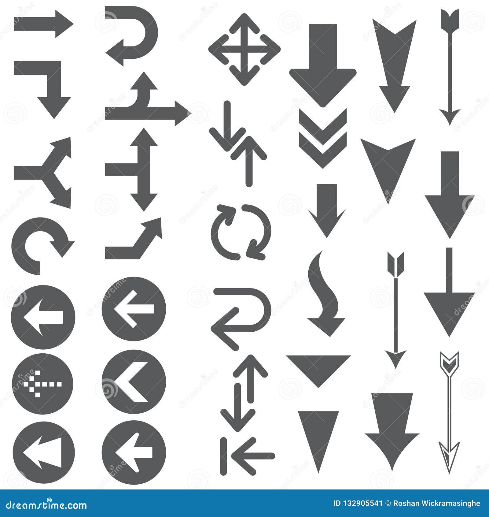 Strzałkowatych pointerów kształty