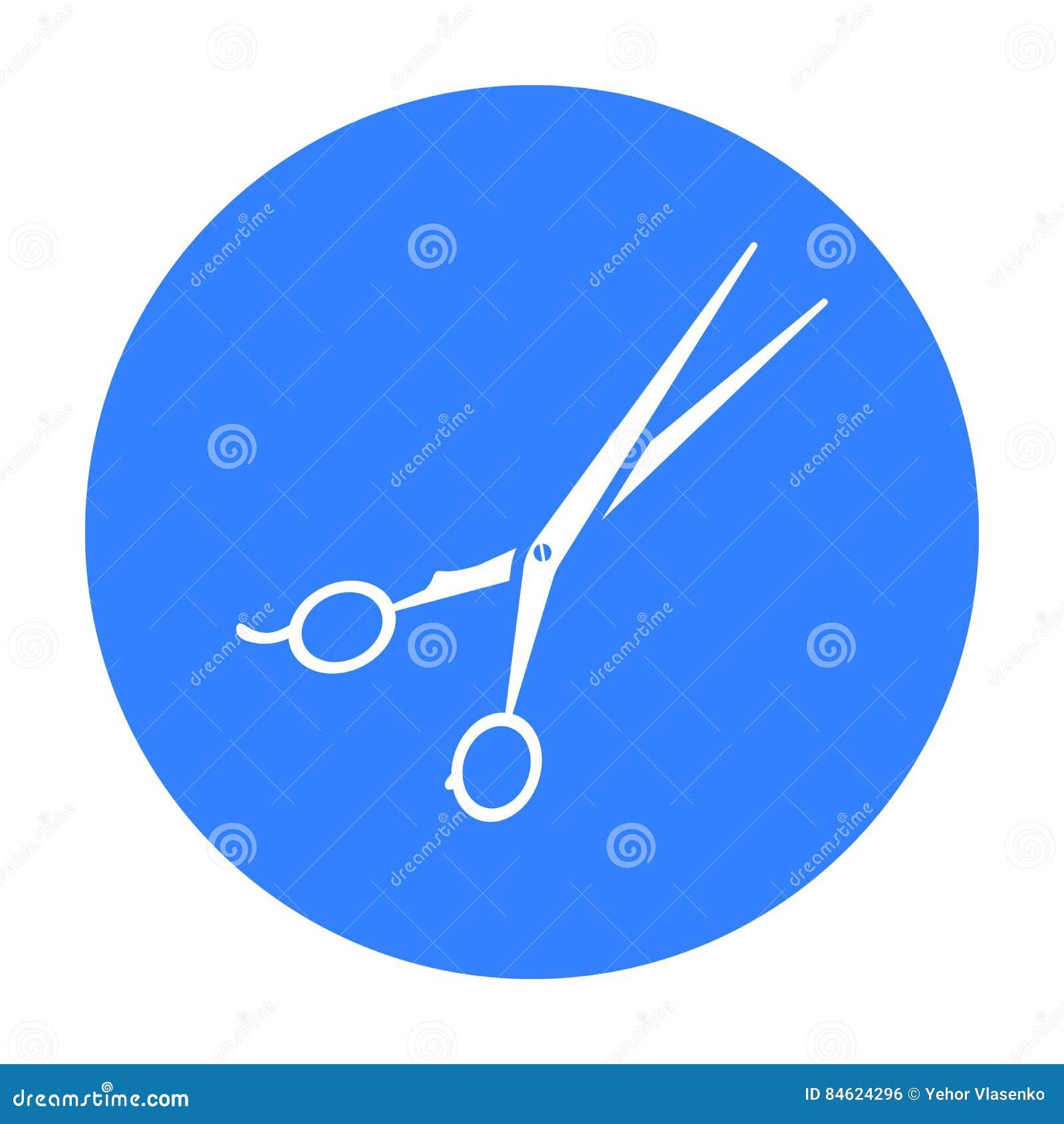 Strzyżeń strzyżeń ikona w czerń stylu odizolowywającym na białym tle Hairdressery symbolu zapasu wektoru ilustracja