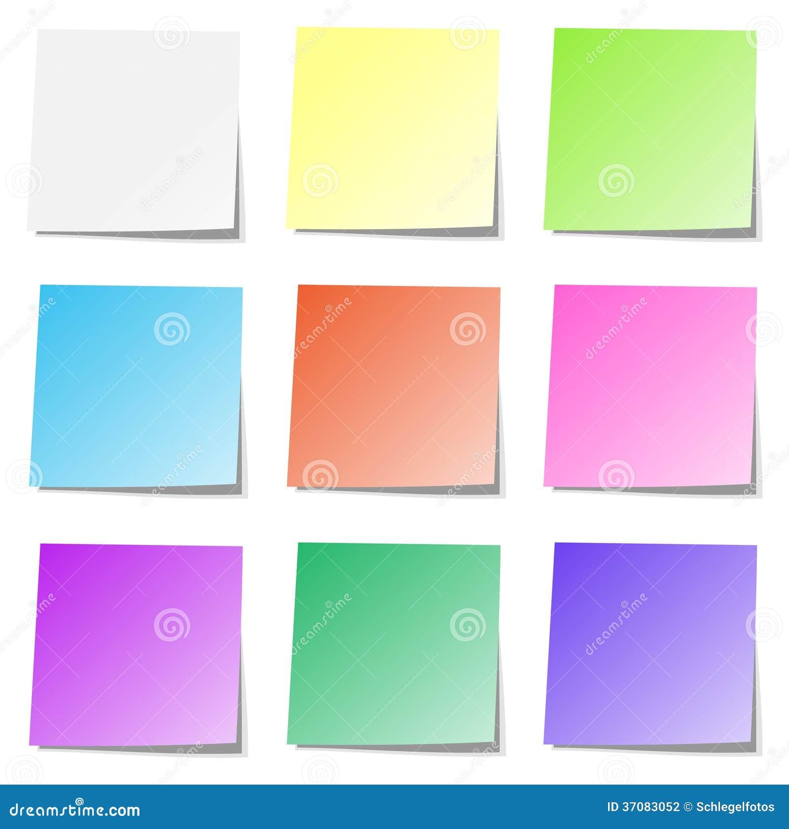 Download Stubarwna Pamięć Papieru Kolekcja Odizolowywająca Ilustracji - Ilustracja złożonej z dostawy, ochraniacz: 37083052
