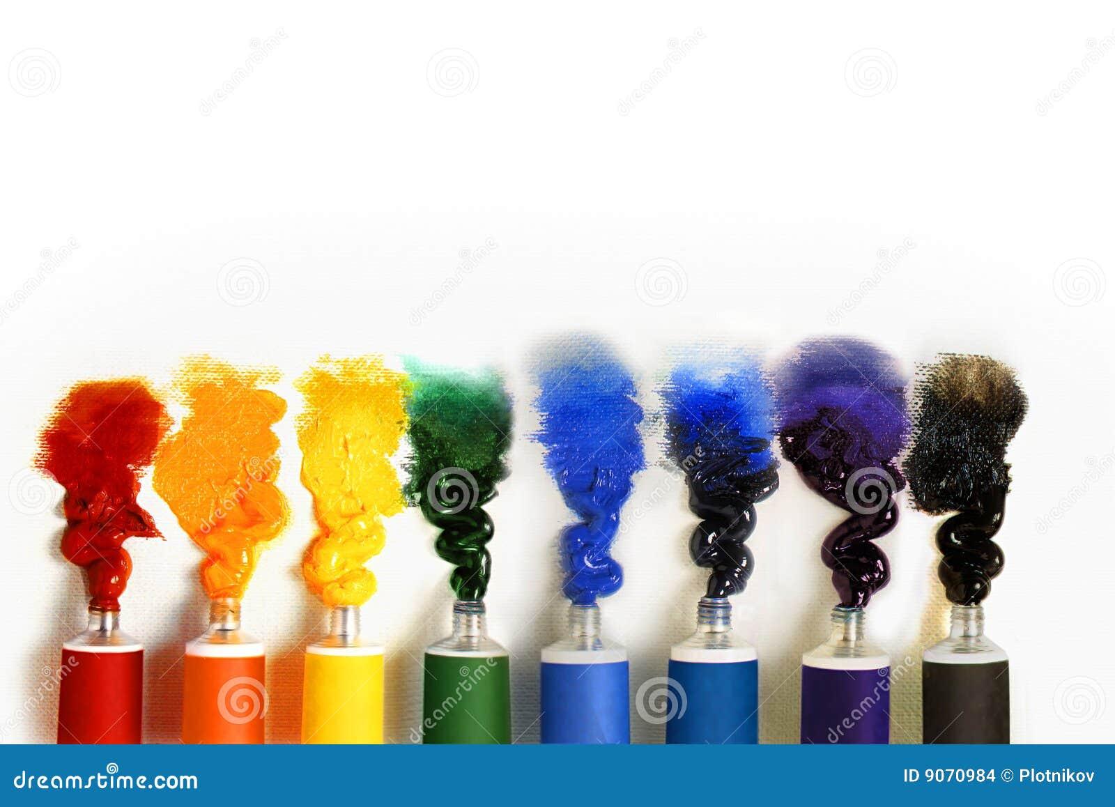Stubarwna tło farba ruruje biel