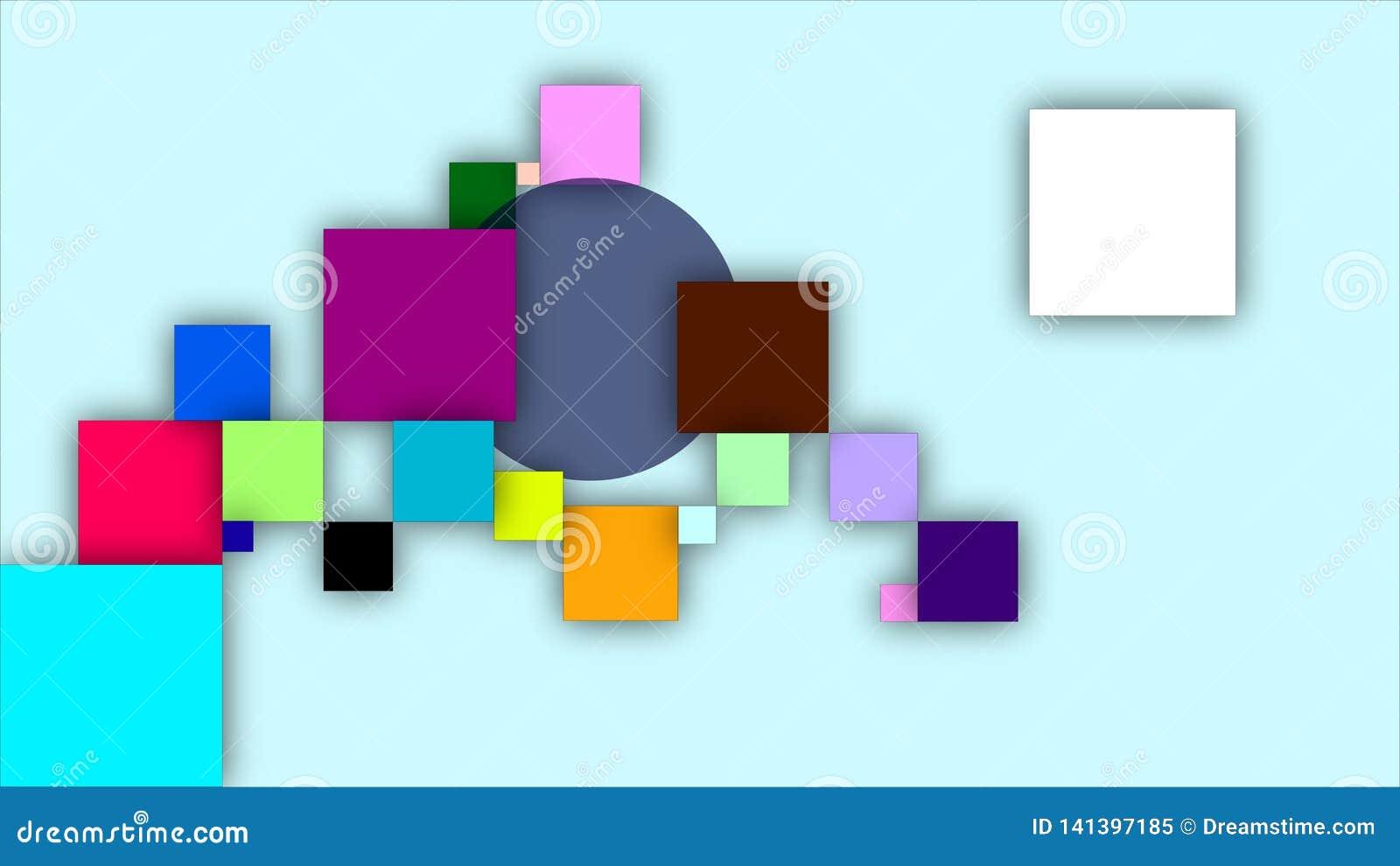 Stubarwni kwadraty i okrąg