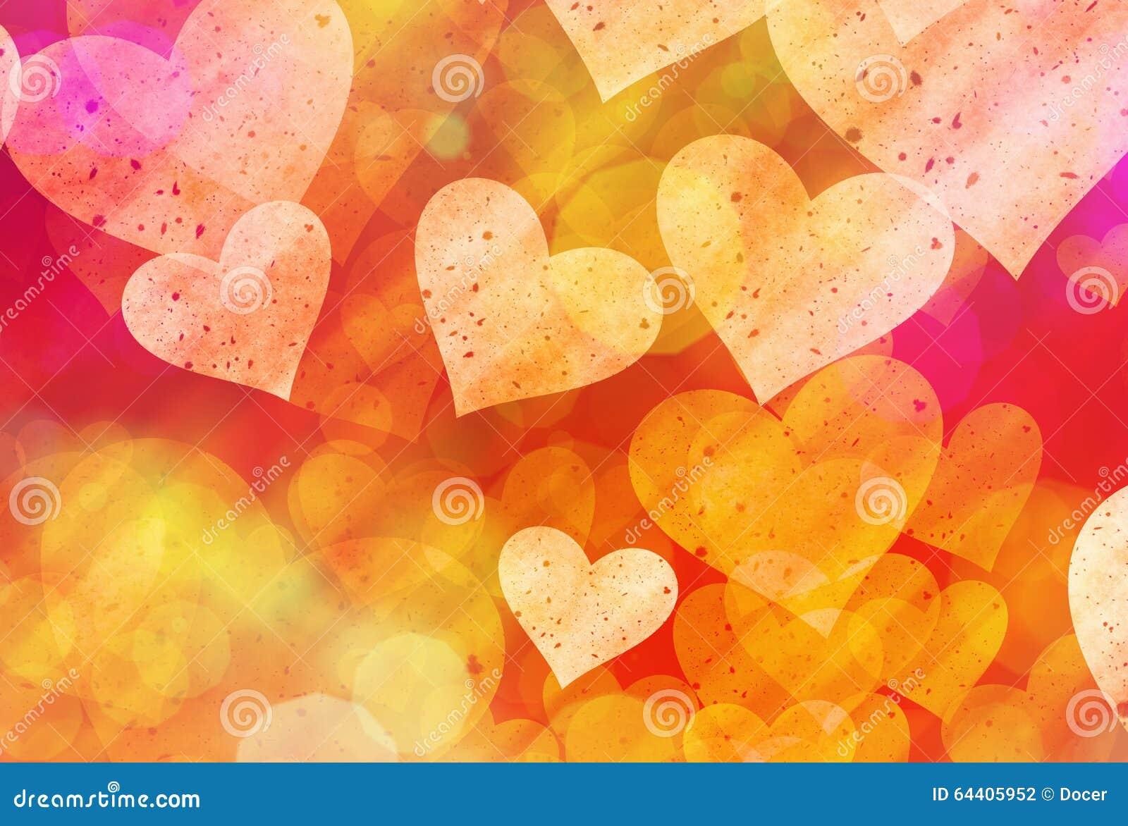Stubarwny serca tło miłość symbol