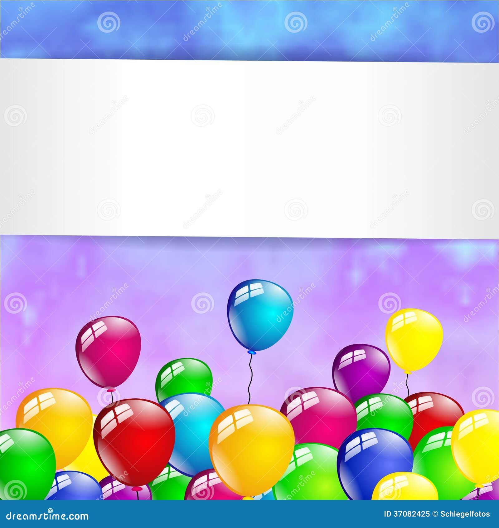 Download Stubarwny Urodzinowy Balonu Przyjęcie Ilustracji - Ilustracja złożonej z kolorowy, świętowanie: 37082425