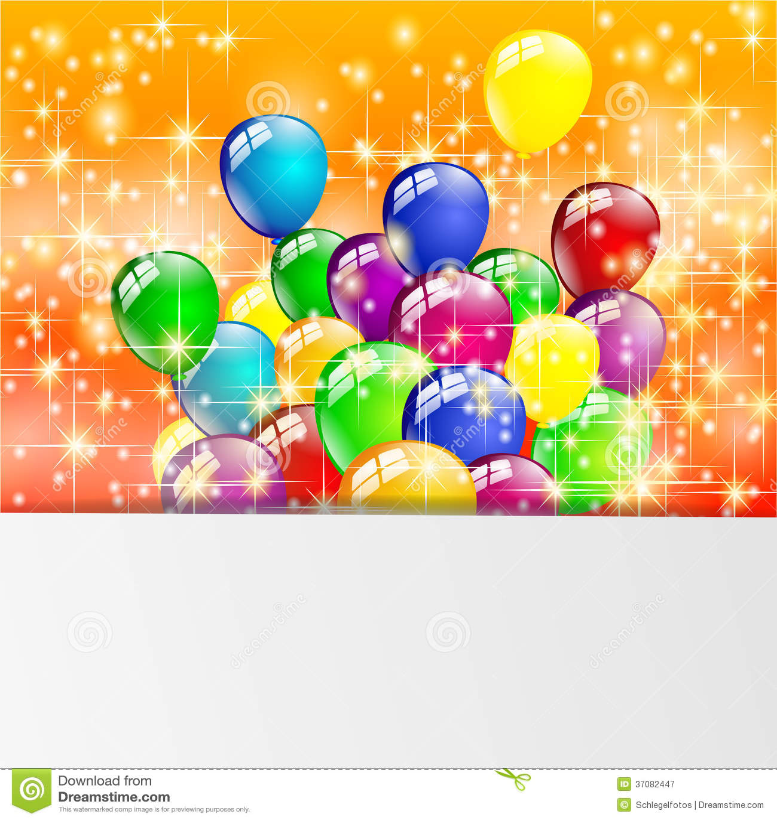 Download Stubarwny Urodzinowy Balonu Przyjęcie Ilustracji - Ilustracja złożonej z urodziny, kolorowy: 37082447