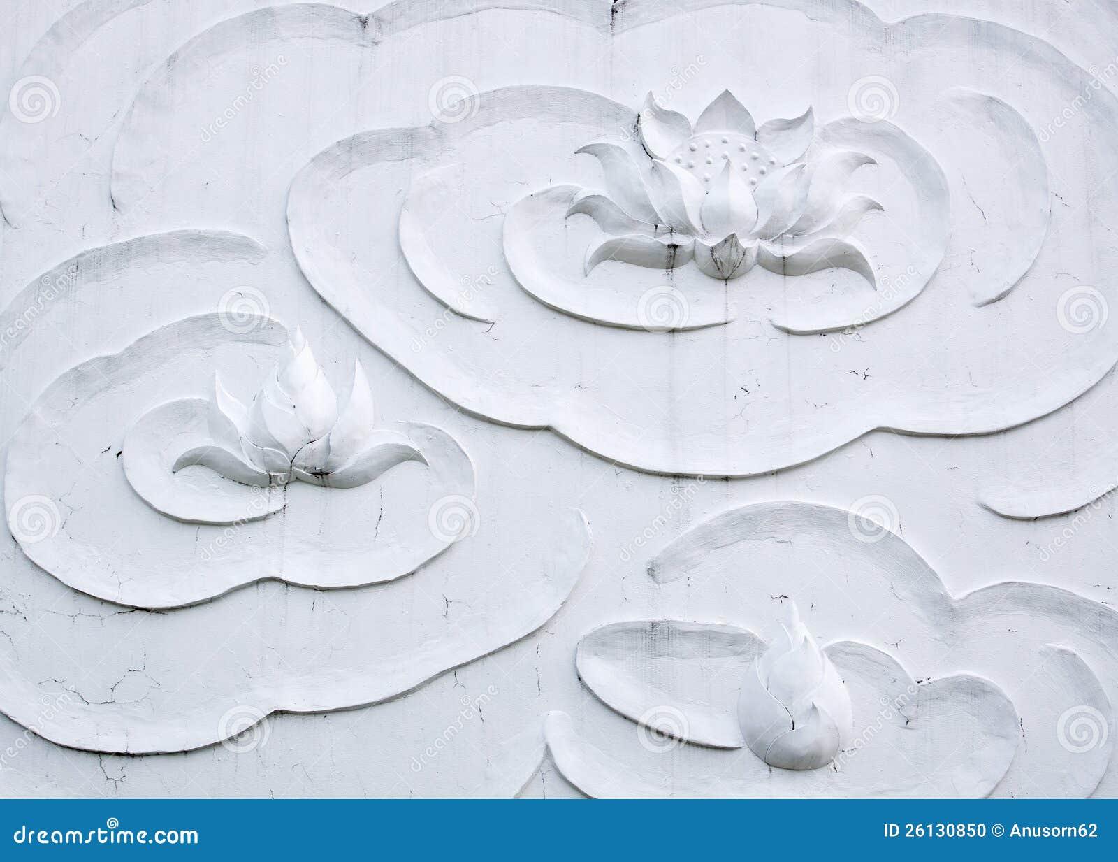 Stucco del loto bianco
