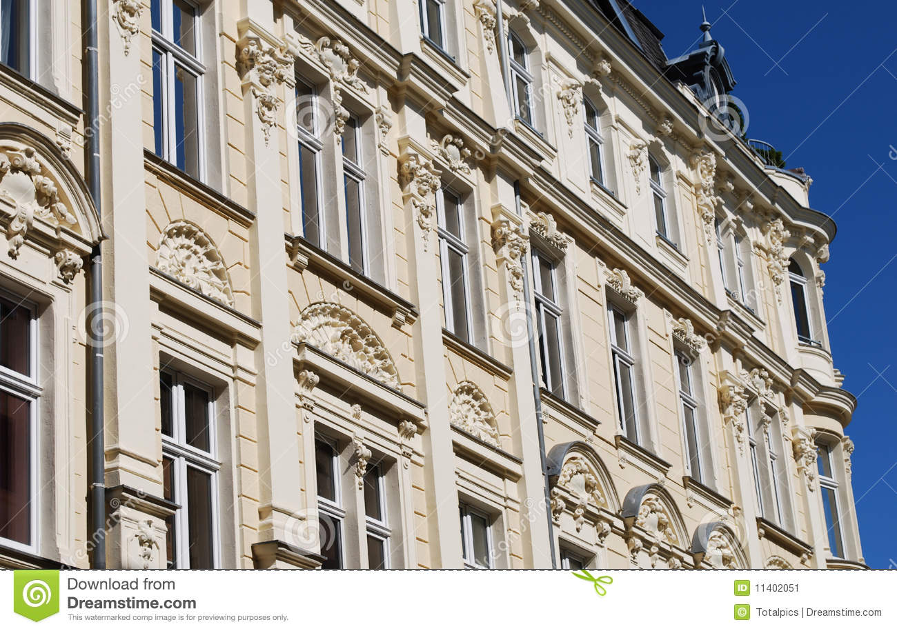 Stucco facade germany stock image image 11402051 for Stucco facade