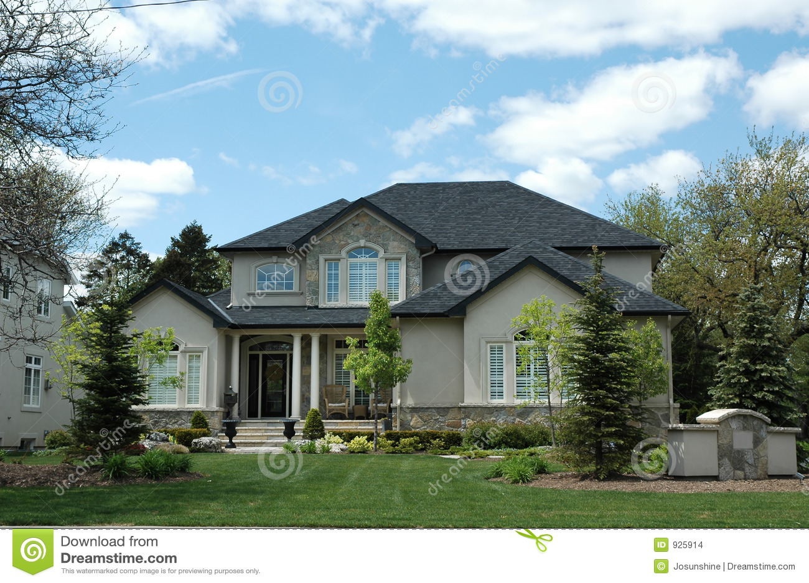 Stucco Stone House Stock Images Image 925914