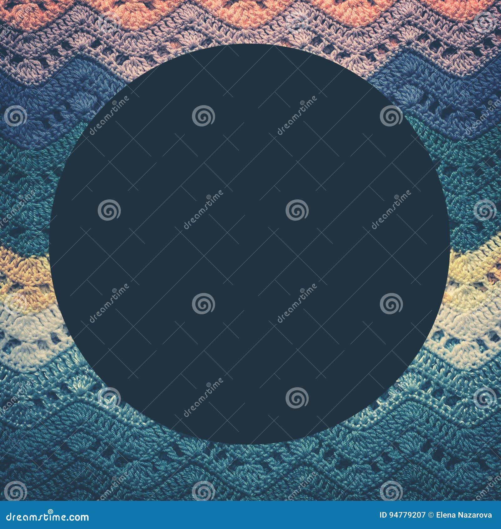 Stuckit mångfärgat bomullstyg i förkylningblått tonar Runt blått